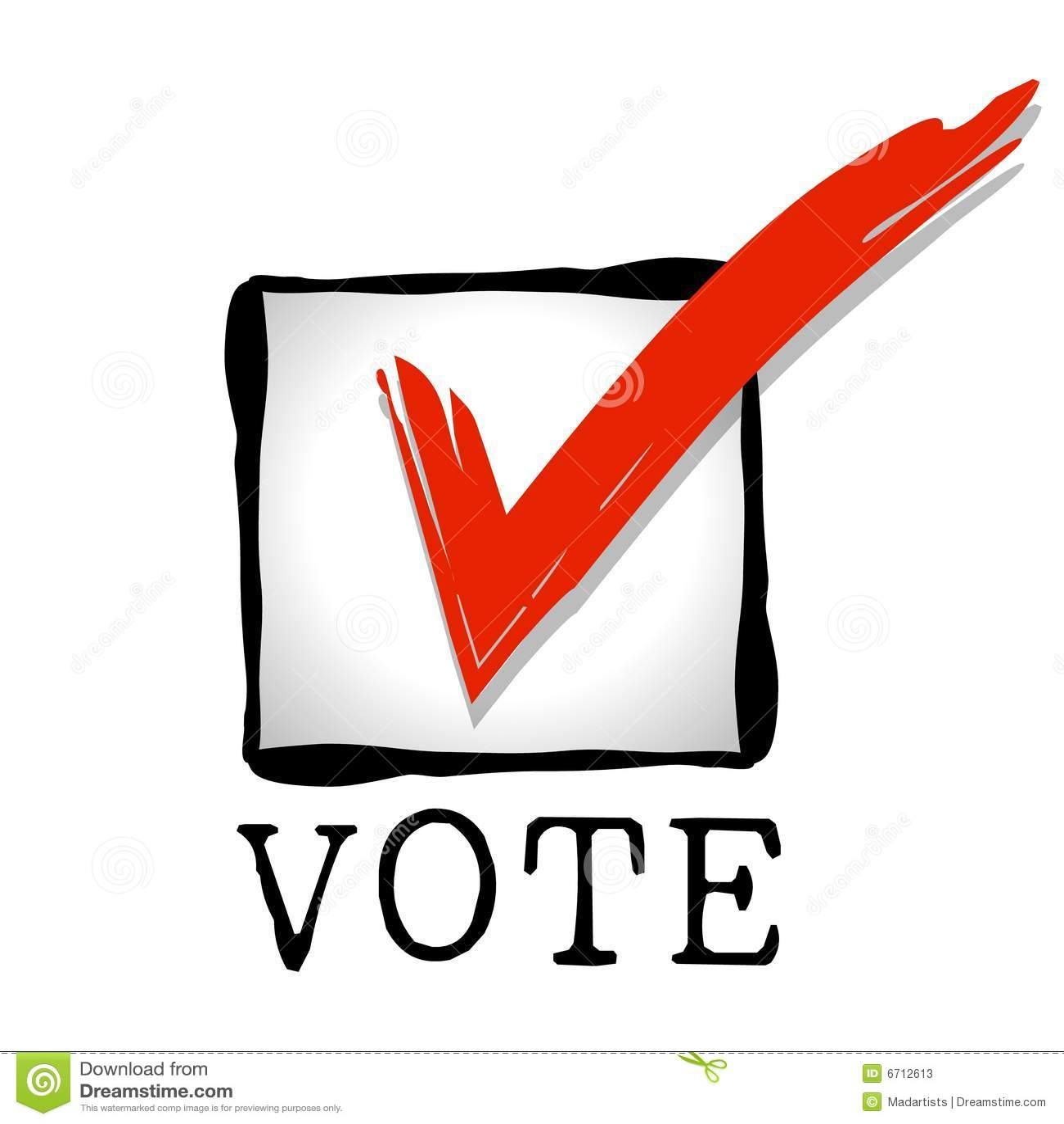 Voto del rojo del Checkbox