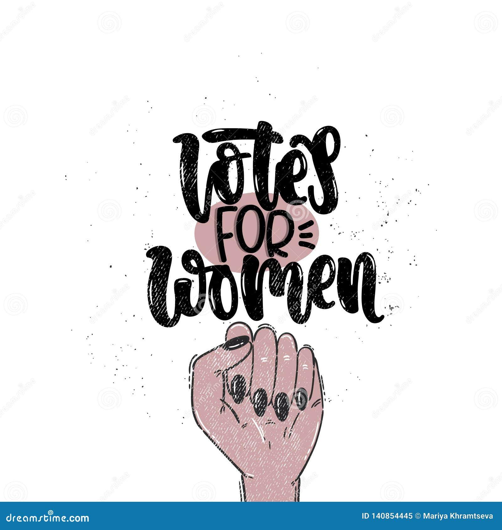 Votos Para Las Mujeres Ilustración Del Vector Ilustración
