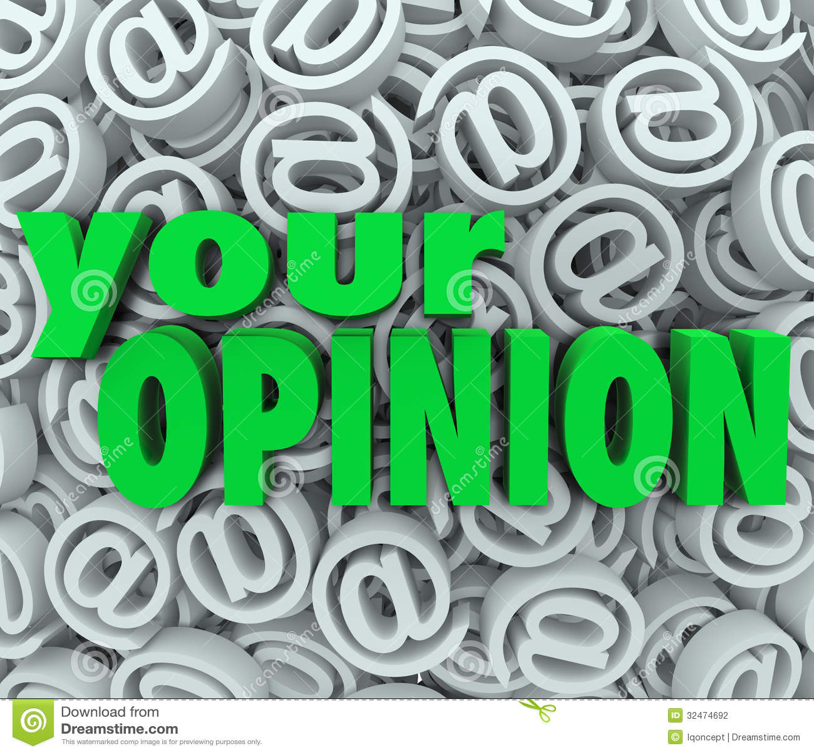 Votre avis 3D à la rétroaction de fond de symbole d email