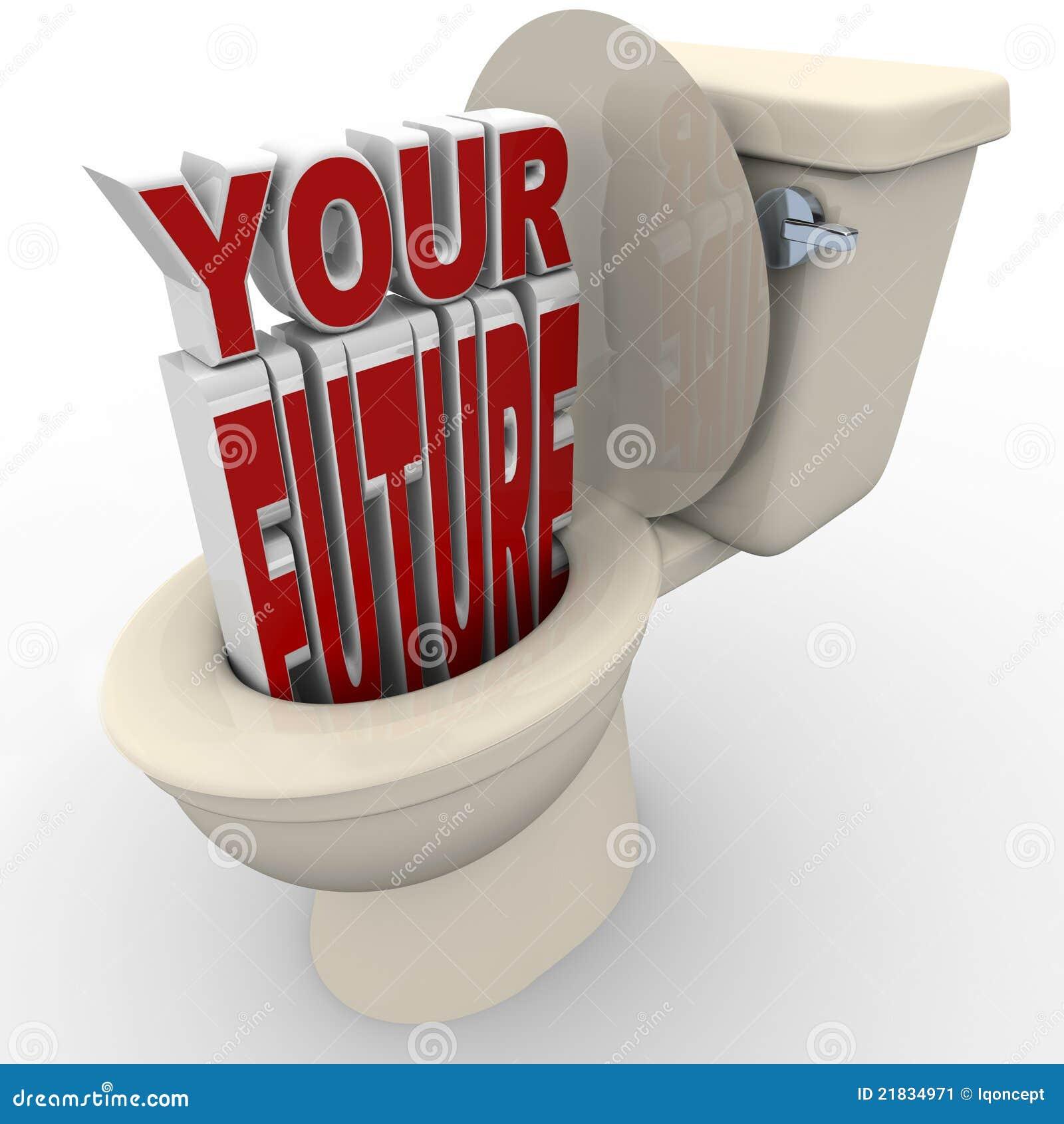 Votre contrat à terme vidant en bas de la toilette prospecte en danger