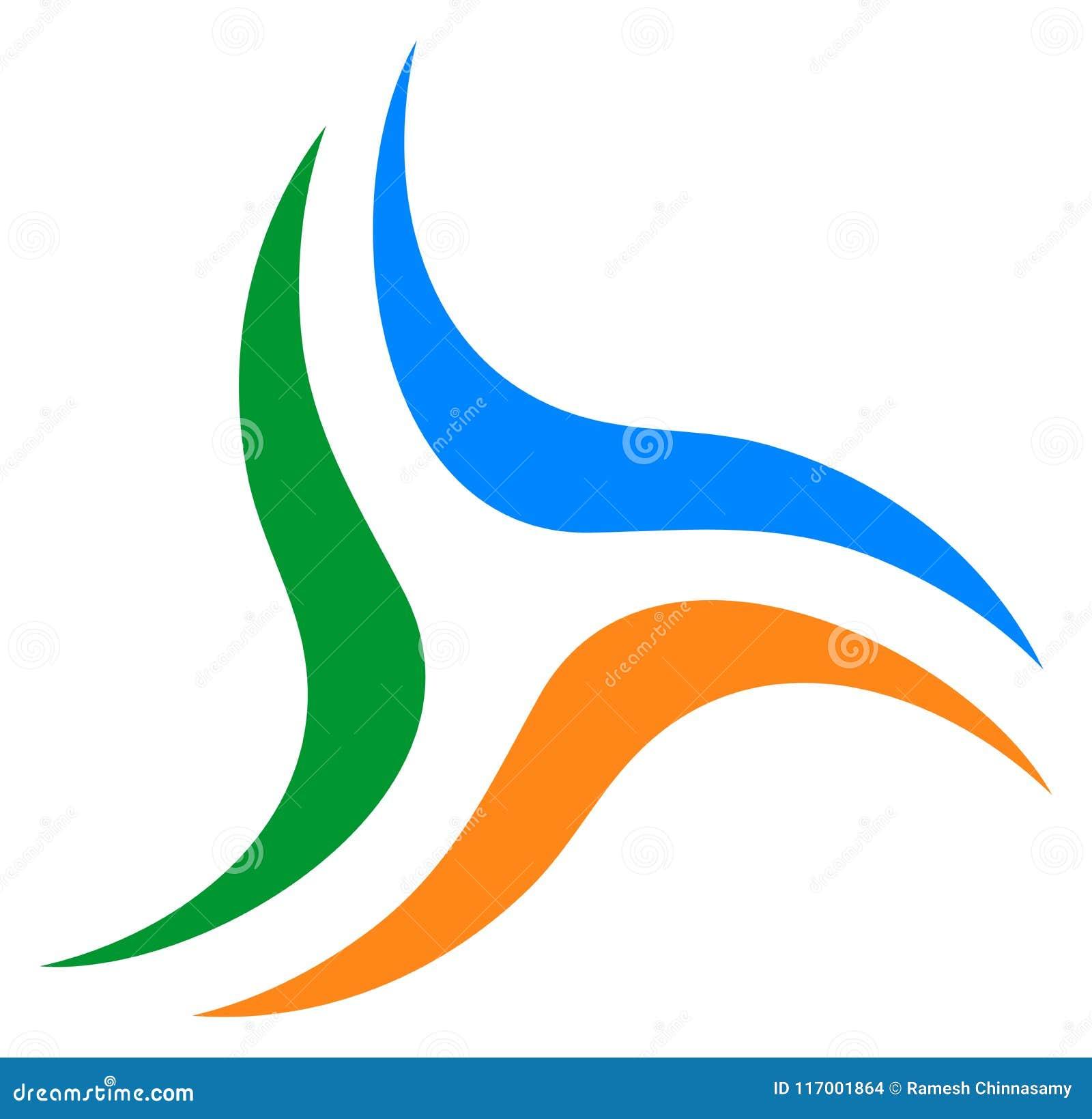 Votre emblème de société commerciale Logo de remous