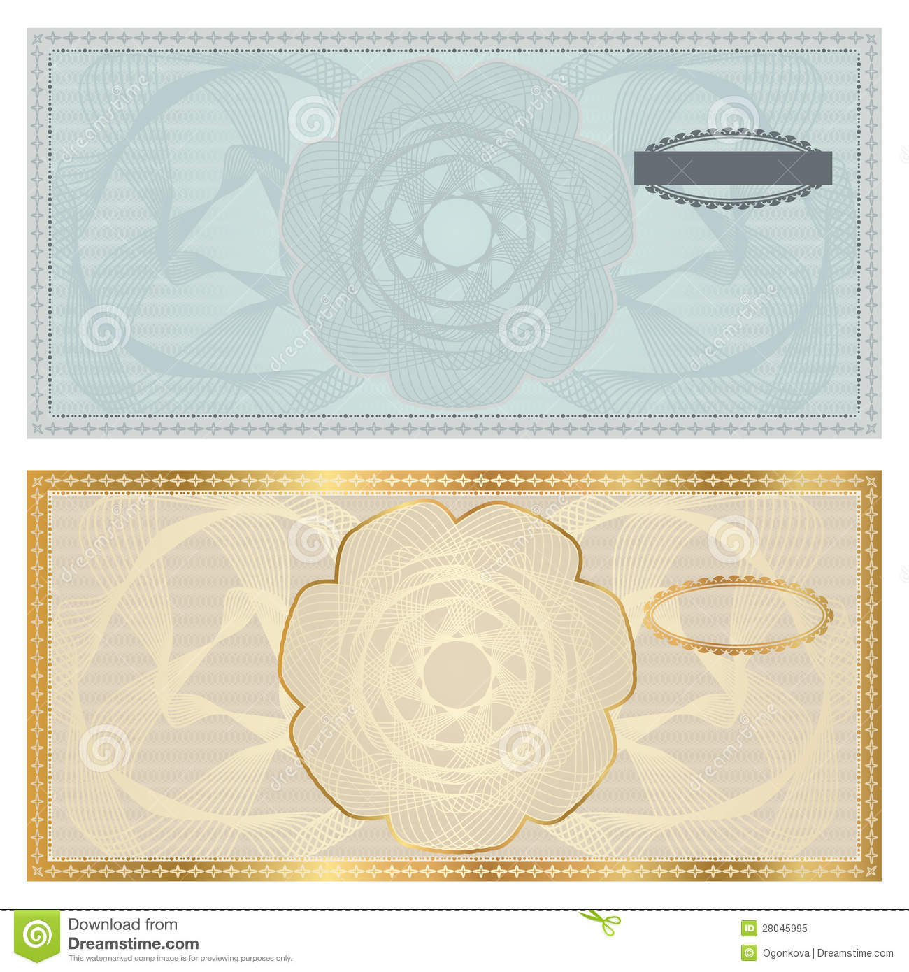 Voucher (Gift Certificate, Coupon) Template  Prize Voucher Template
