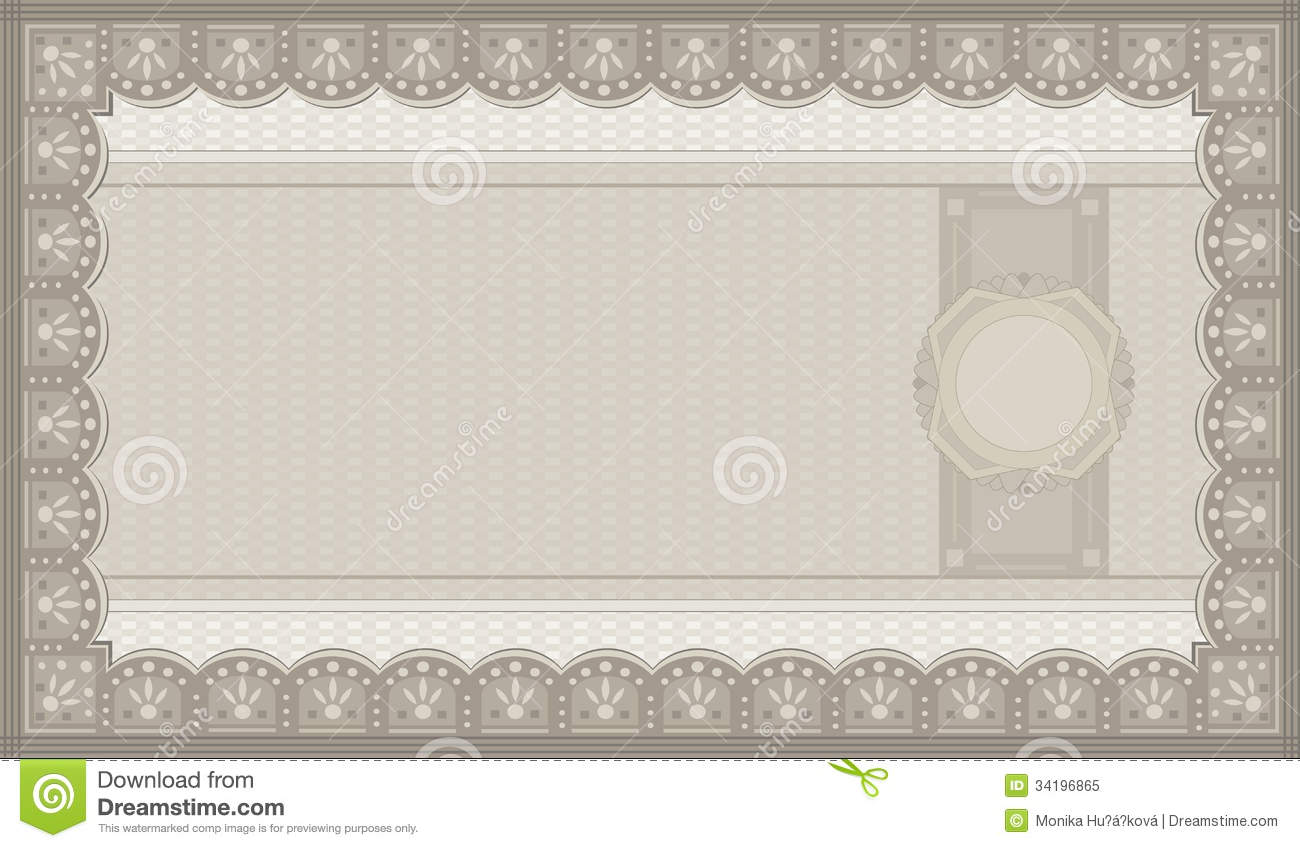 Voucher Coupon Paper  Money Voucher Template