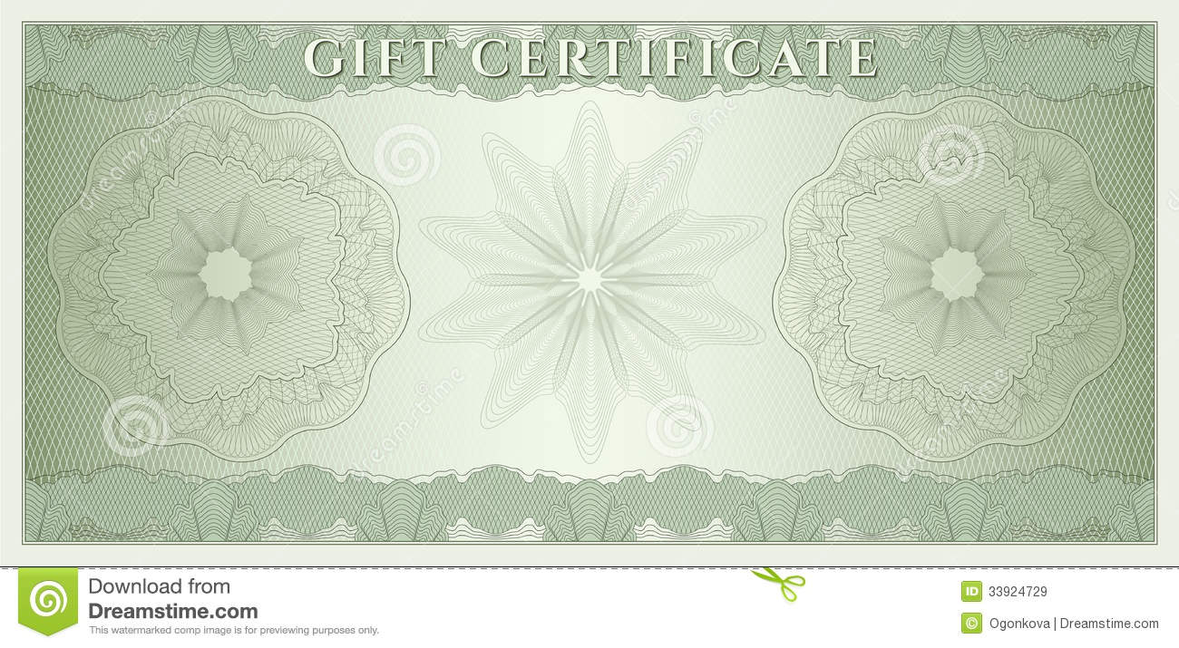 voucher gift certificate coupon money stock vector illustration