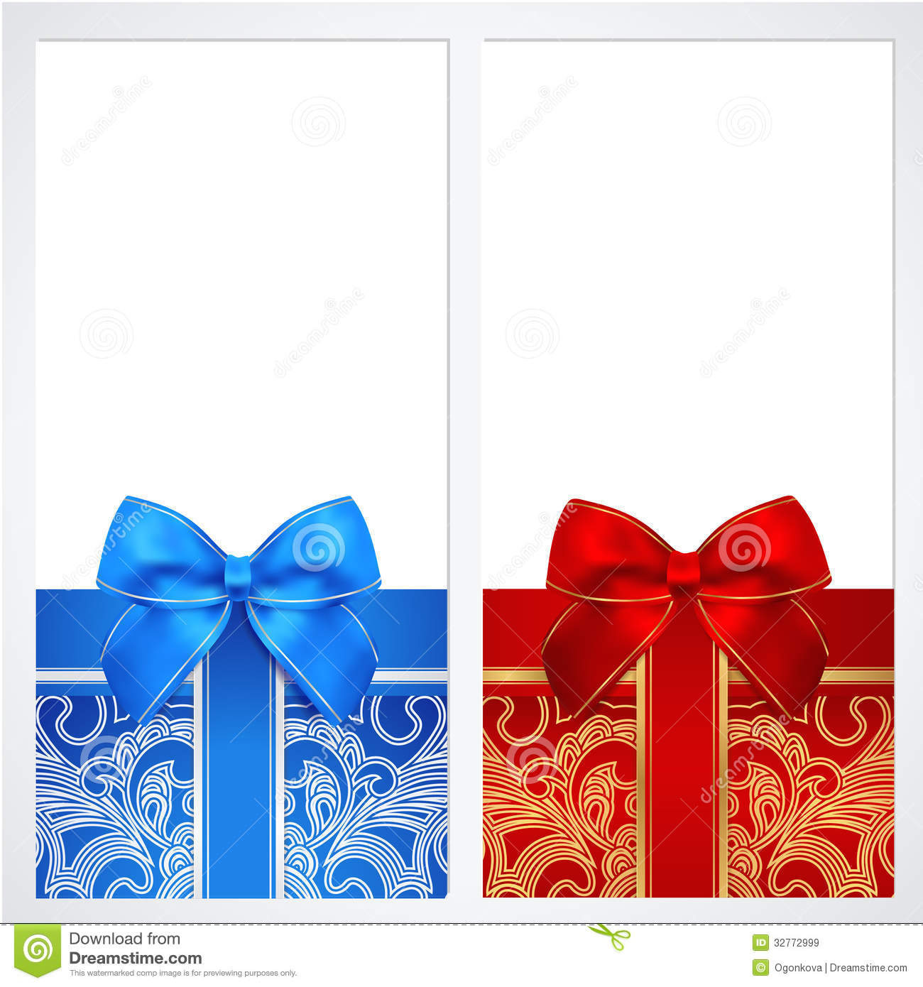 Voucher, Gift certificate, Coupon template. Box