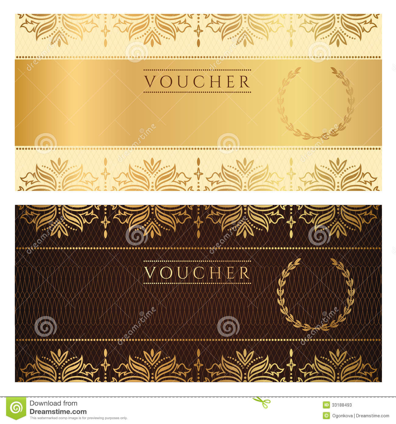 Ticket Gift Certificate Template