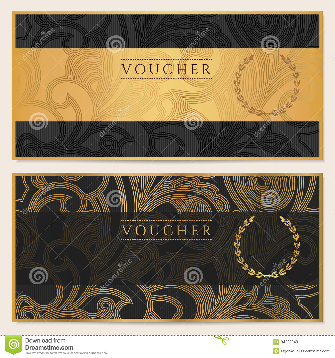voucher  gift certificate  coupon  ticket  pattern stock