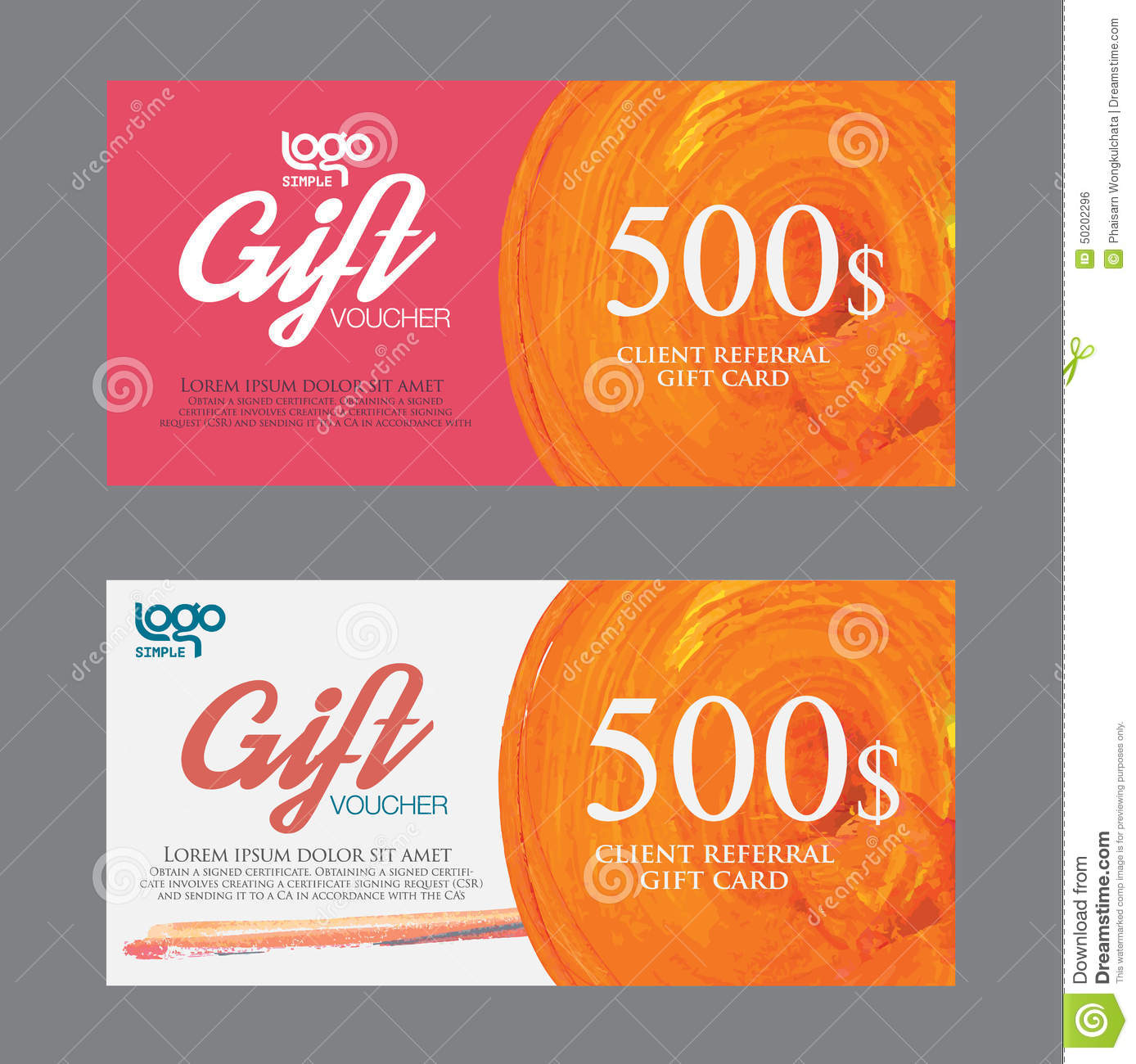 Premium Stock Photos Voucher template with premium
