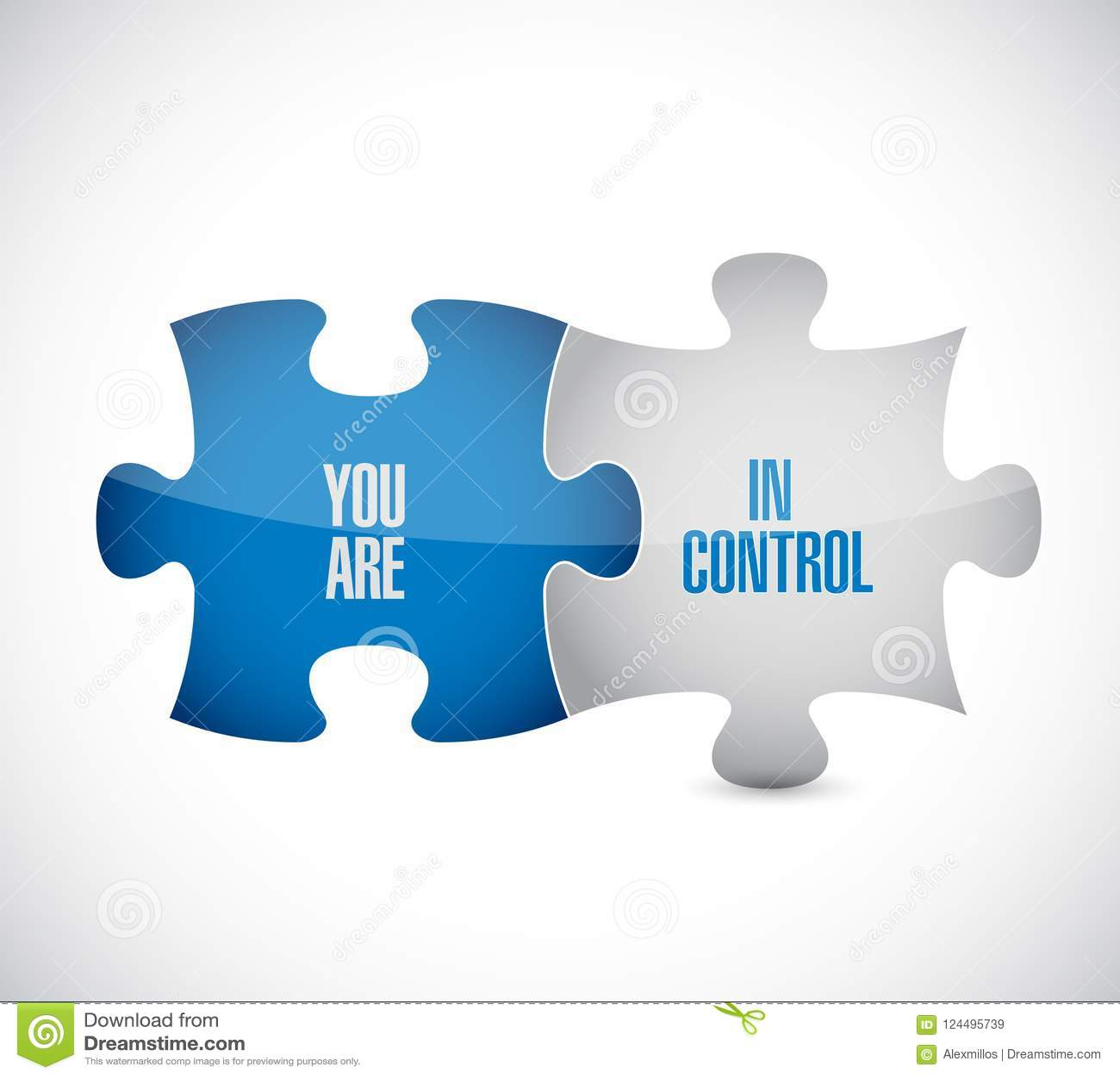 Vous êtes dans le concept de message de morceaux de puzzle de contrôle