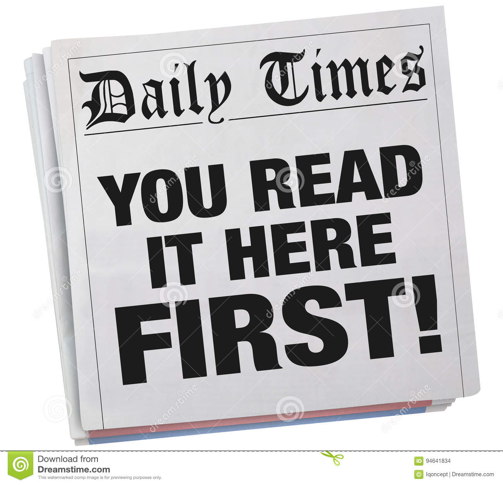 Vous l avez lu ici le premier titre de journal exclusif 3d Illustrat