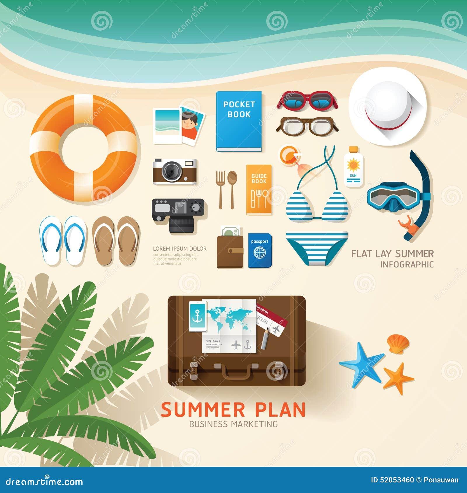 Voyage d Infographic prévoyant une configuration d appartement d affaires de vacances d été
