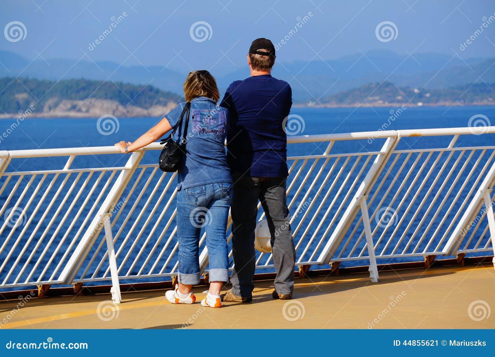 Voyage de bateau de croisière, Langesund, Norvège