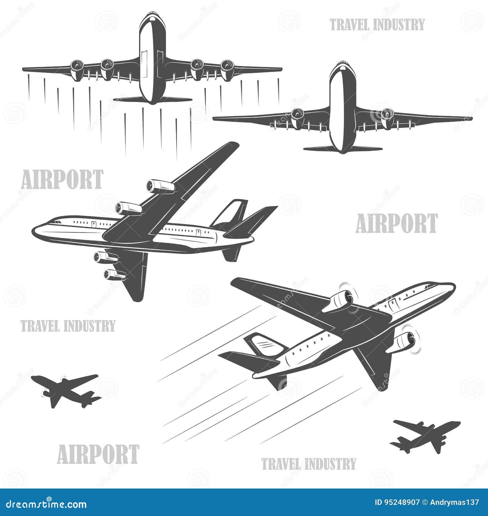 Voyage En L Avion Rapidement Et Sans Risque Illustration De
