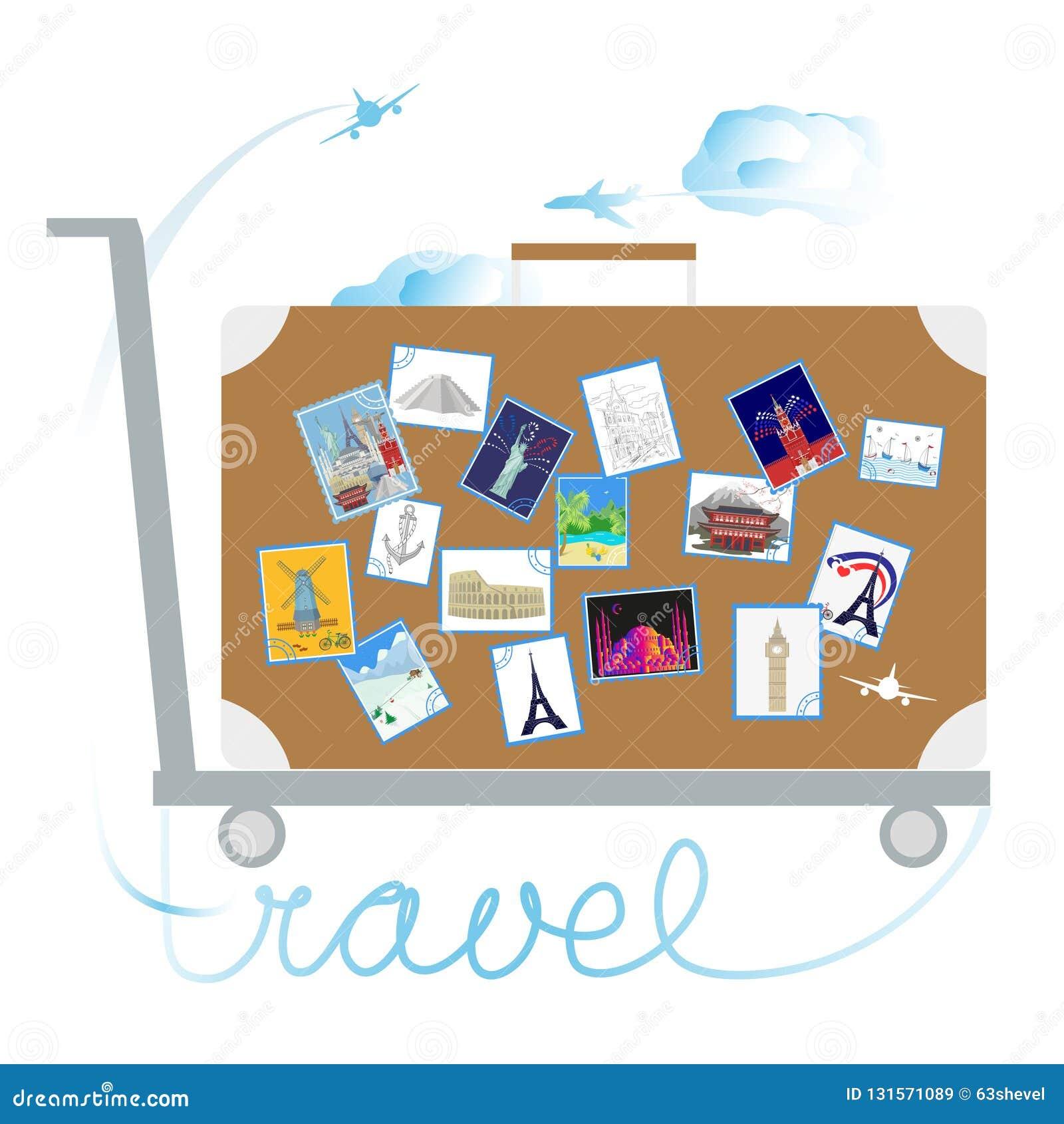 Voyage et tourisme Autocollants sur la valise