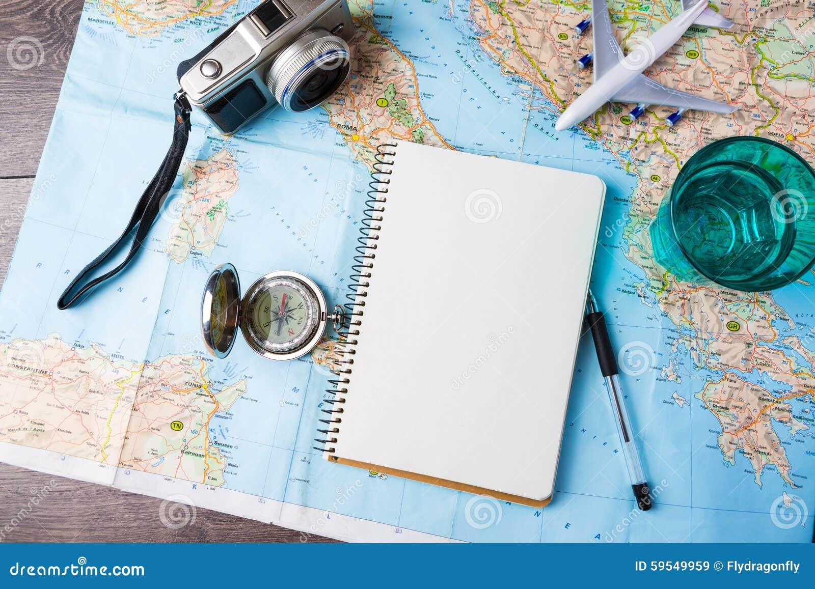 Voyage, vacances de voyage, outils de maquette de tourisme
