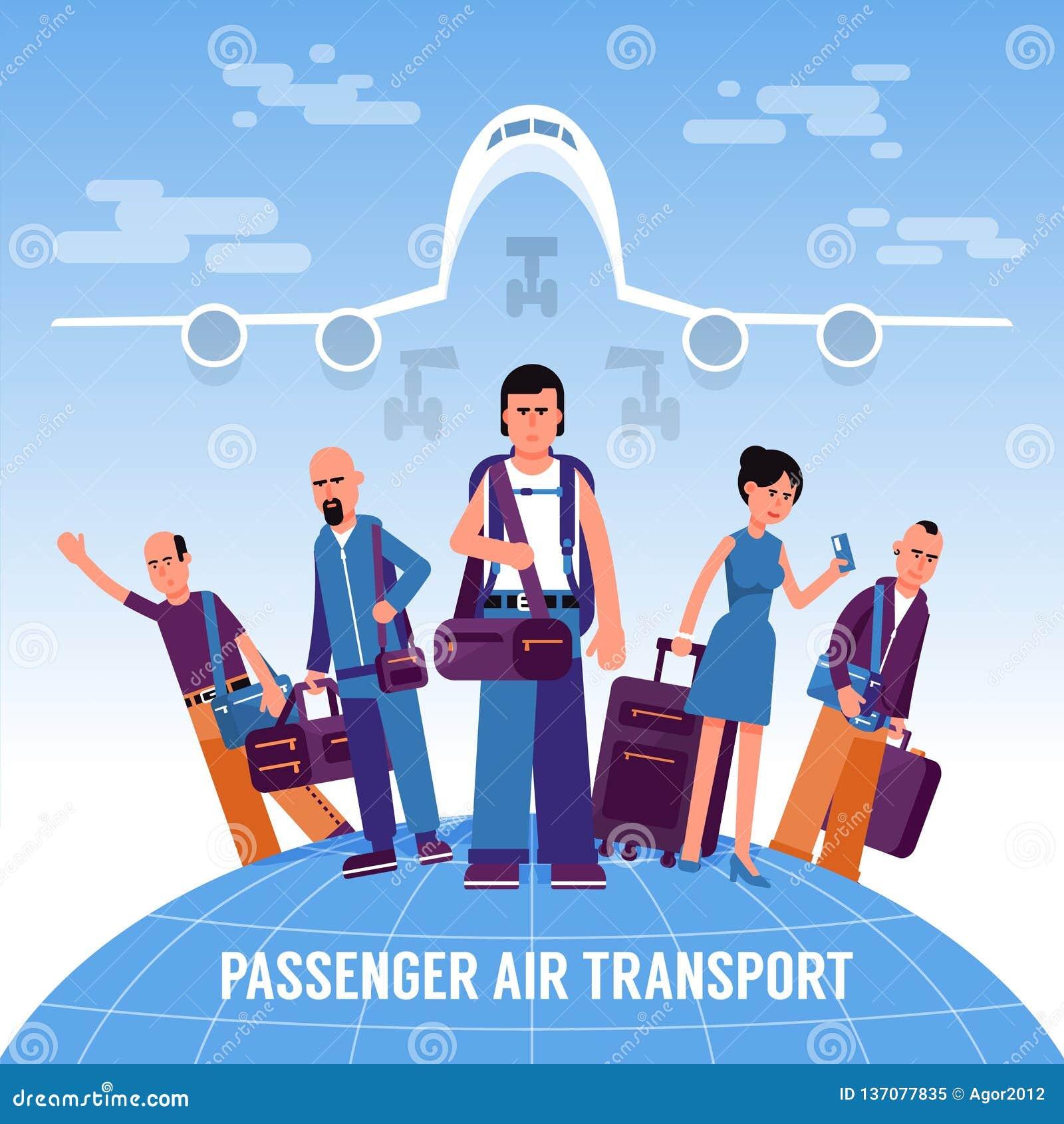 Voyageuses de personnes avec le support de bagage sur le globe