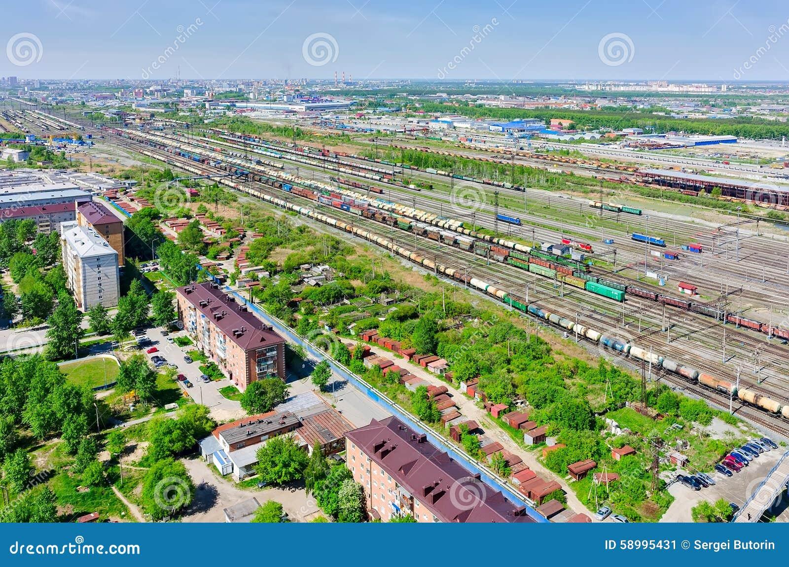 Voynovka Residential Area Tyumen Russia Royalty Free