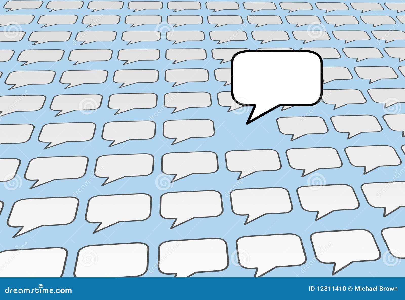 A voz da bolha do discurso fala sobre os media sociais azuis