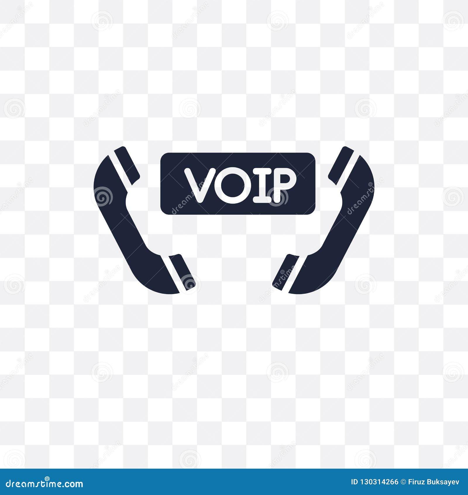 Voz sobre icono transparente del Internet Protocol voz sobre interno