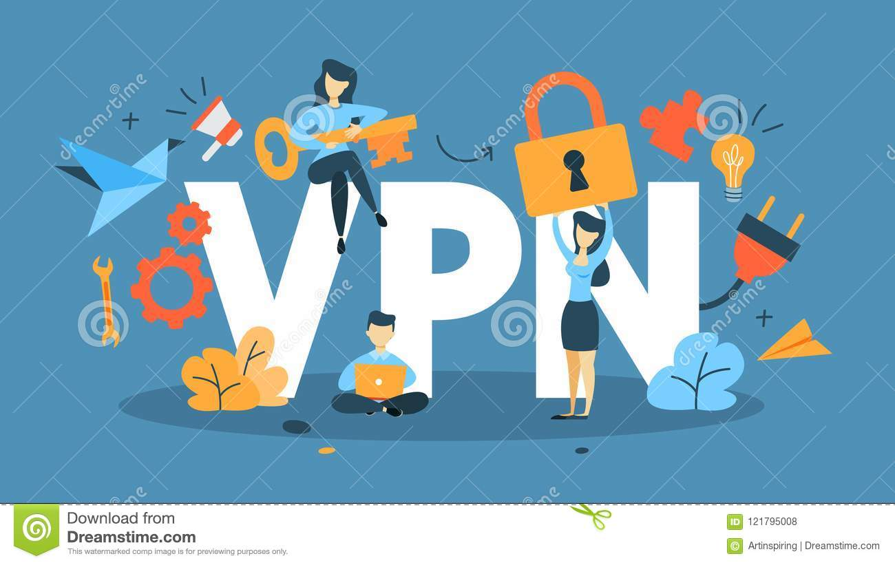 VPN concept illustration