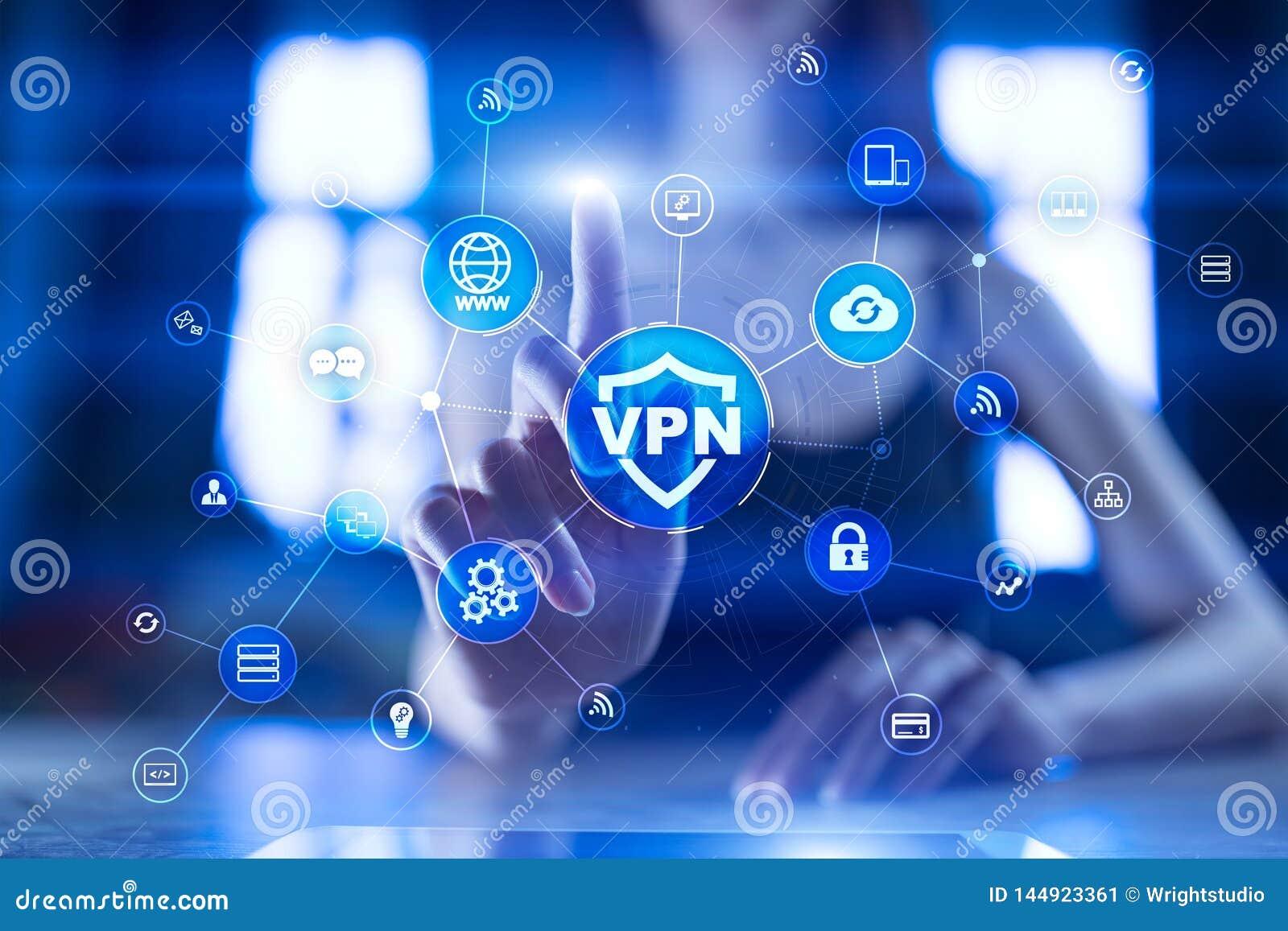 Εικονικό ιδιωτικό πρωτόκολλο δικτύων VPN Ασφάλεια Cyber και τεχνολογία σύνδεσης μυστικότητας Ανώνυμο Διαδίκτυο