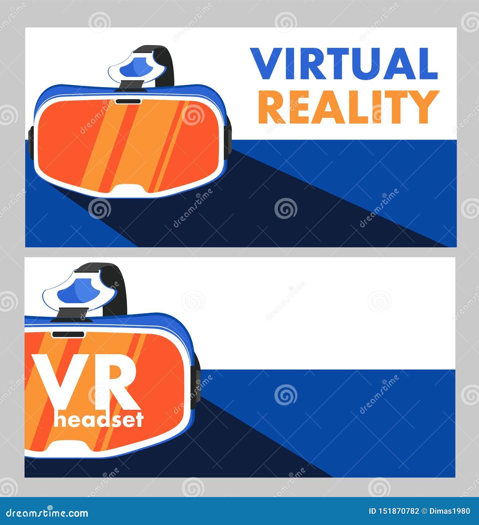 VR-hörlurar med mikrofonapparat i plan stil