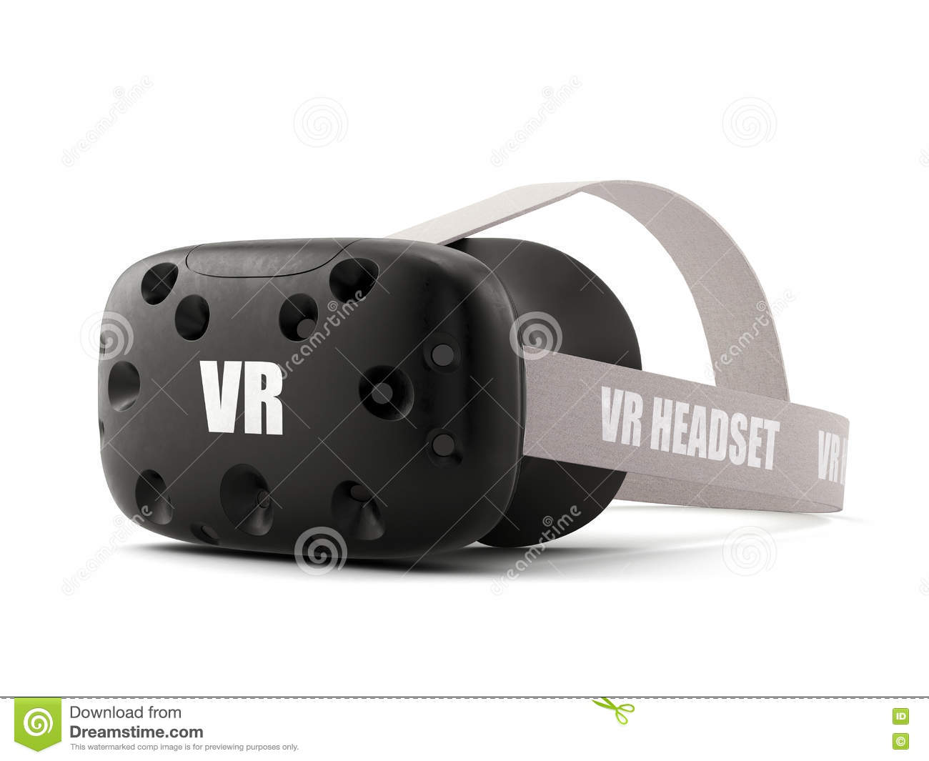 VR virtual reality headset isolated on white