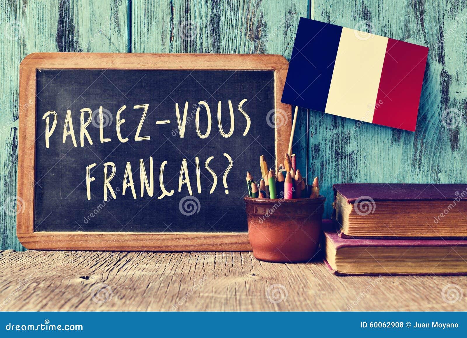 Vraag parlez-vous francais? spreekt u het Frans?