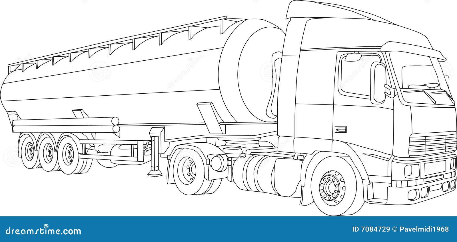 vrachtwagen stock illustratie illustratie bestaande uit