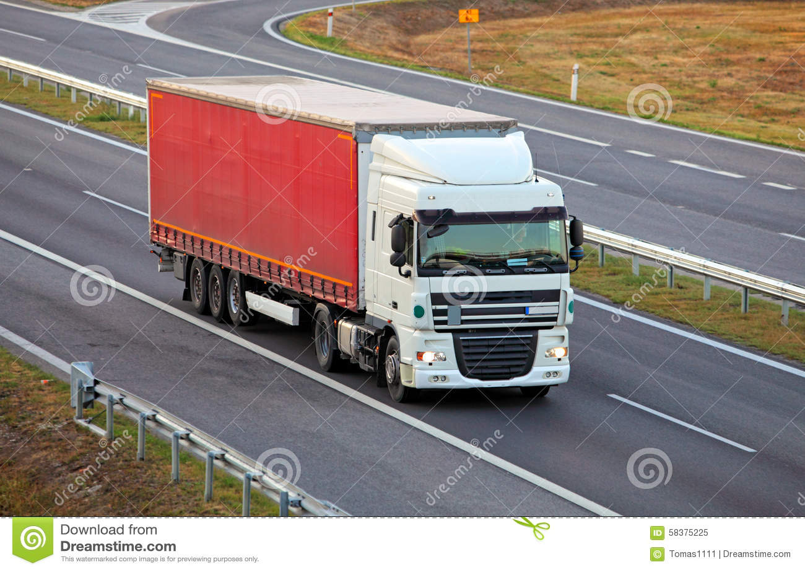 Vrachtwagen op weg, vrachtvervoer