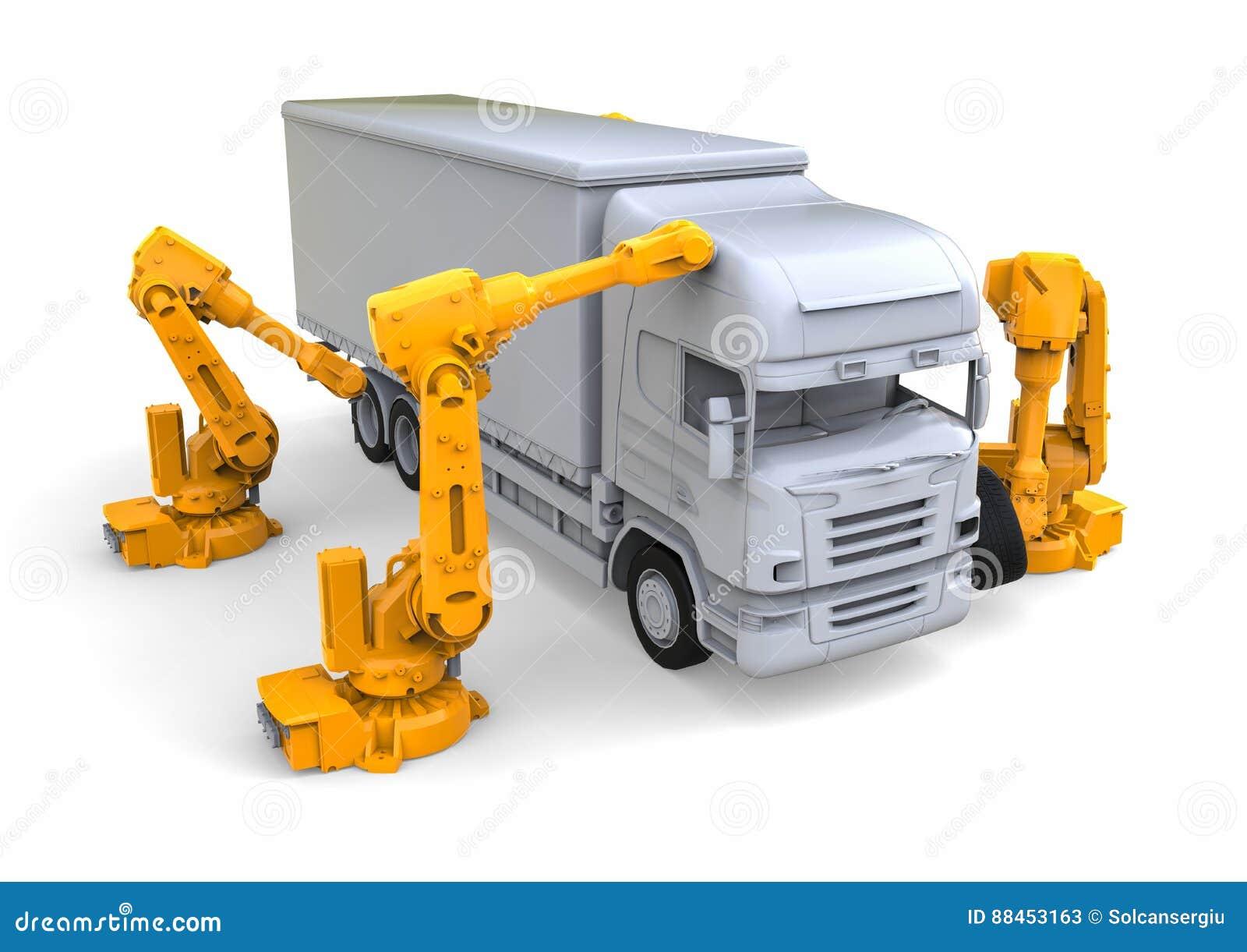 Vrachtwagenlopende band