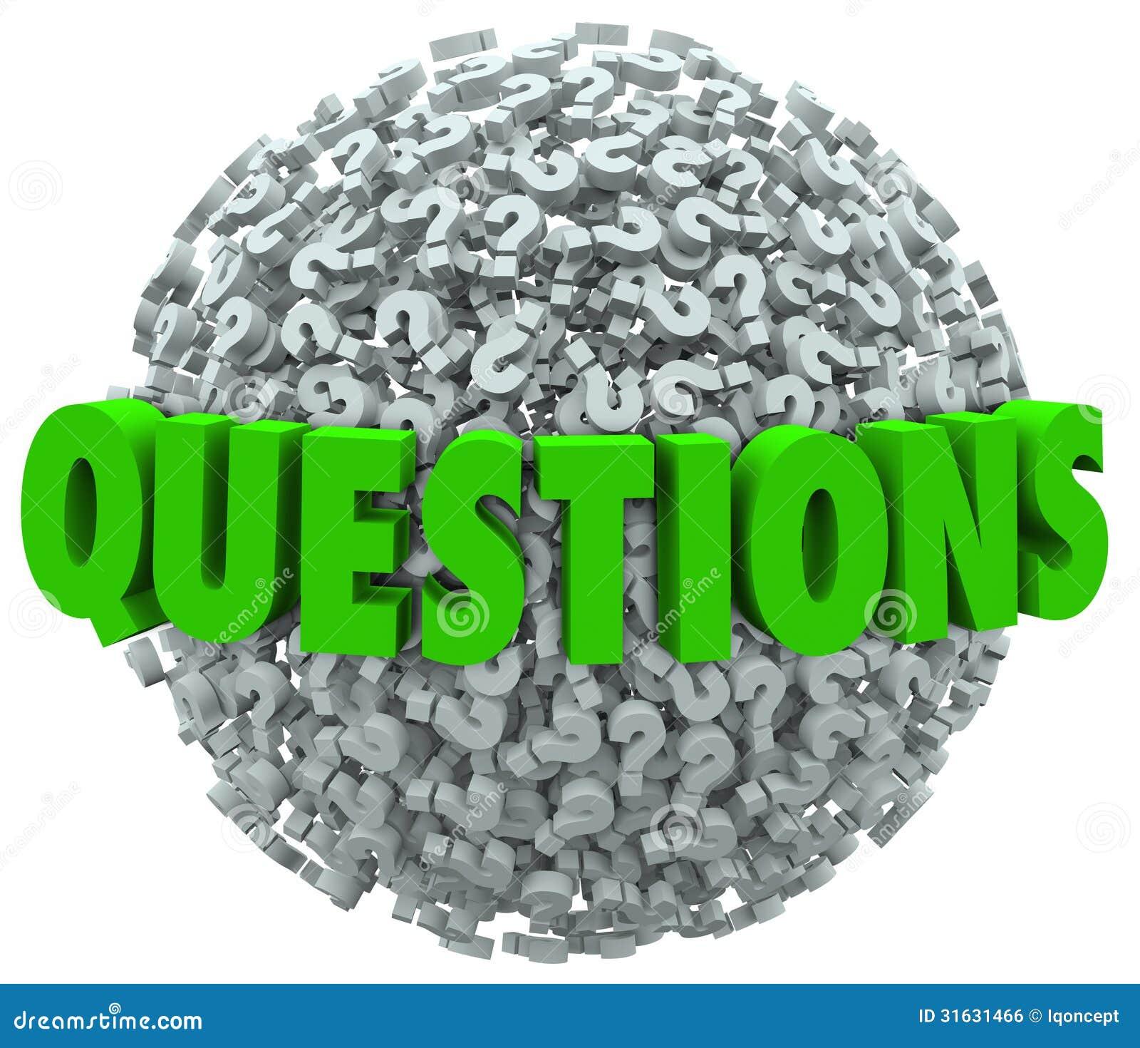 Vragenword Vraag Mark Ball Asking voor Antwoorden