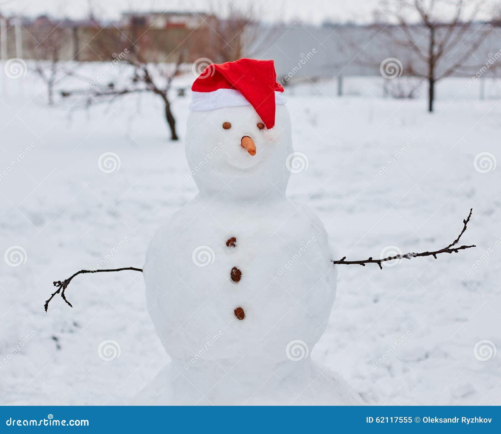 Vrai bonhomme de neige dehors photo stock image 62117555 - Bonhomme de neige en pompon ...