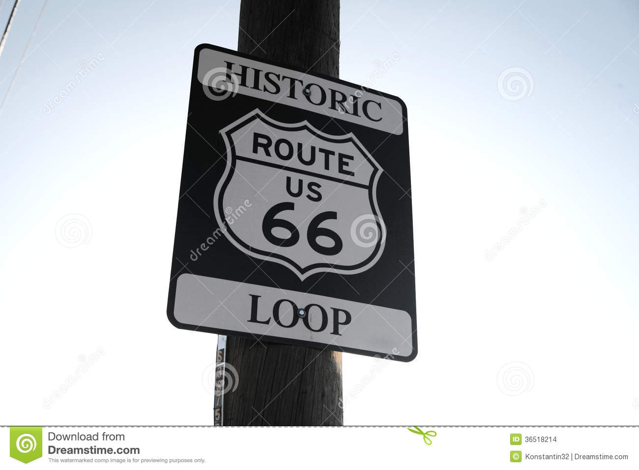 Vrai Route 66 Roadsign, Arizona, Etats-Unis