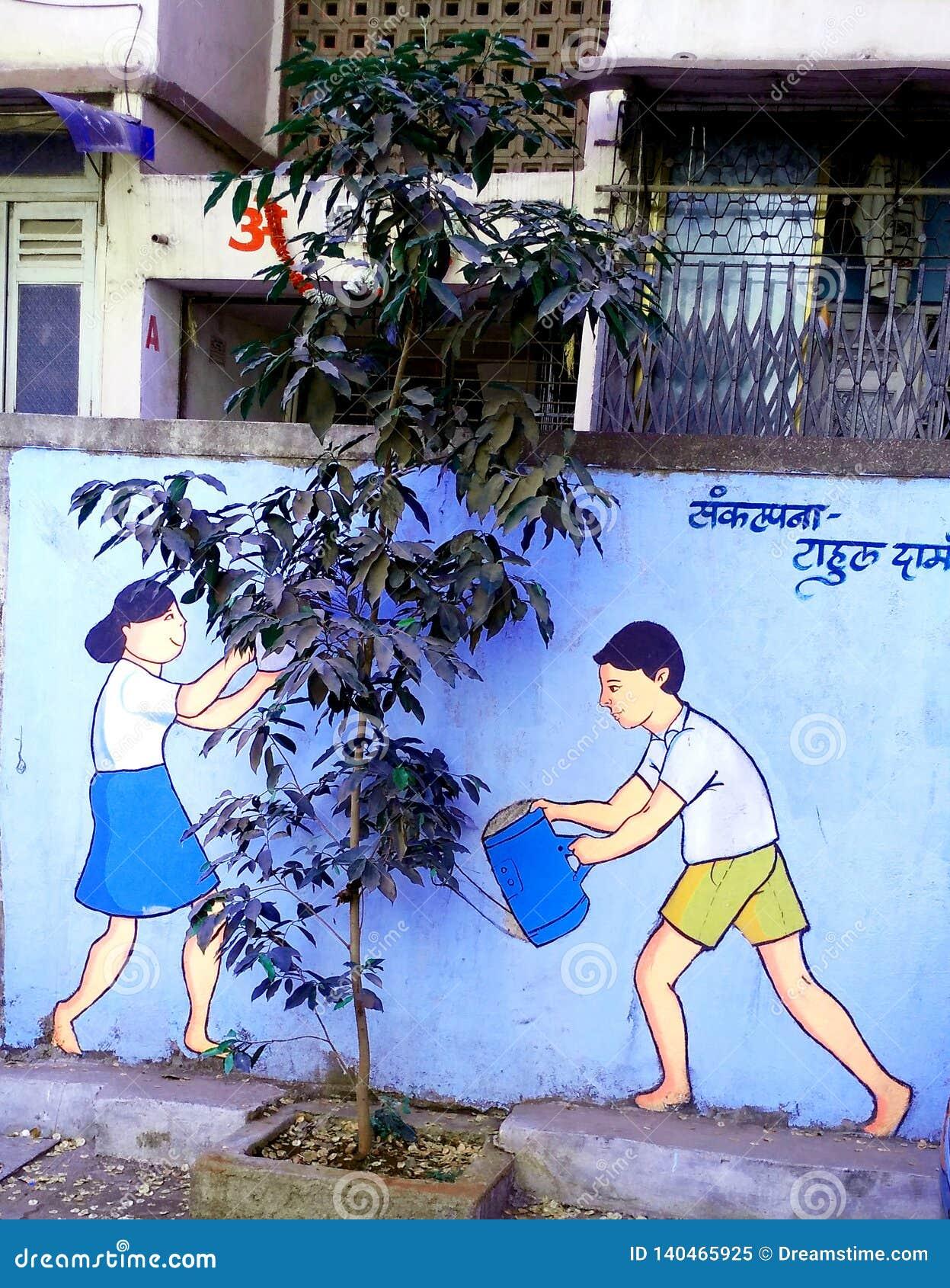 Vraie usine et peinture futée pour sauver le slogan d environnement