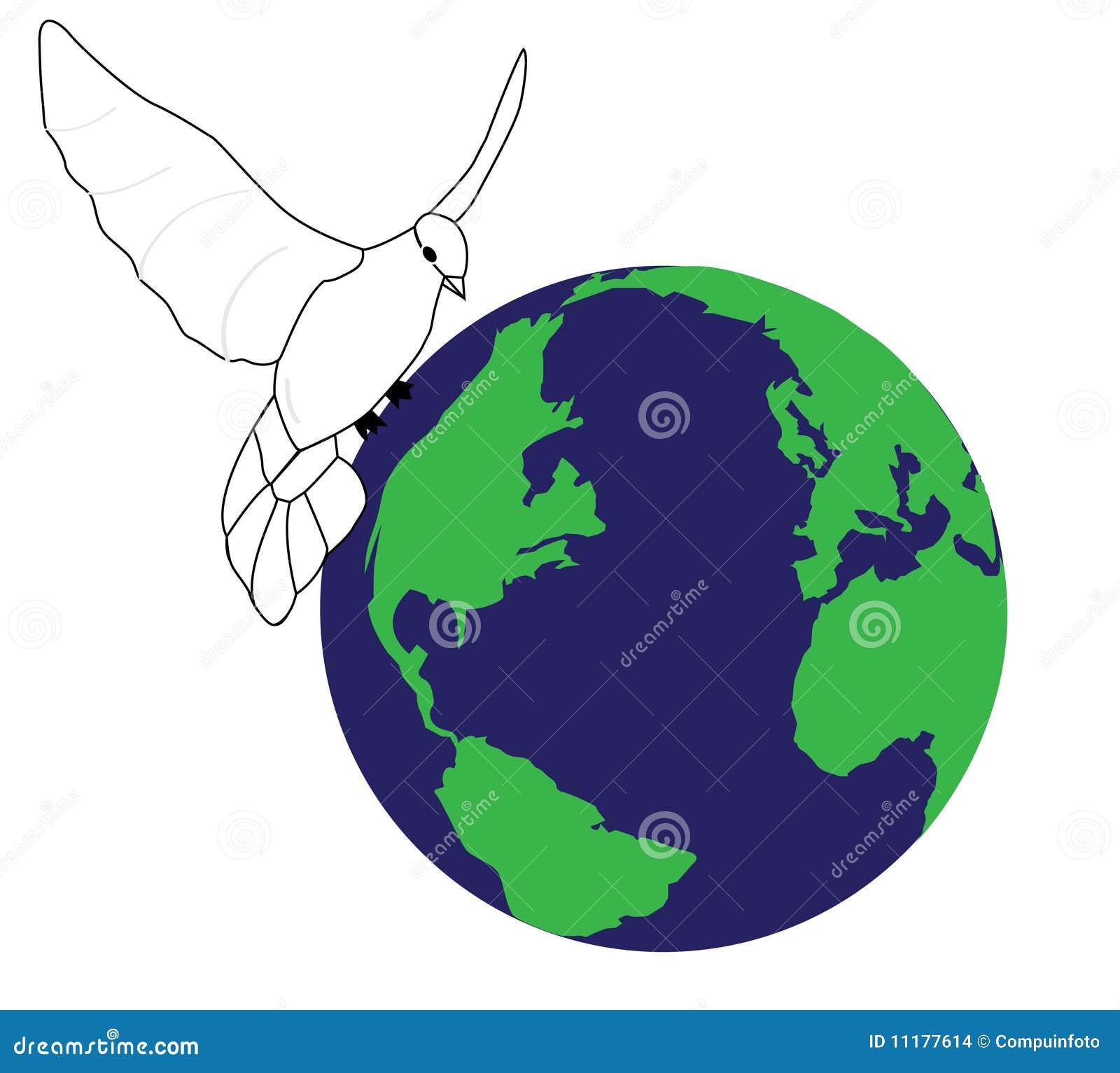 vrede in de wereld vector illustratie illustratie