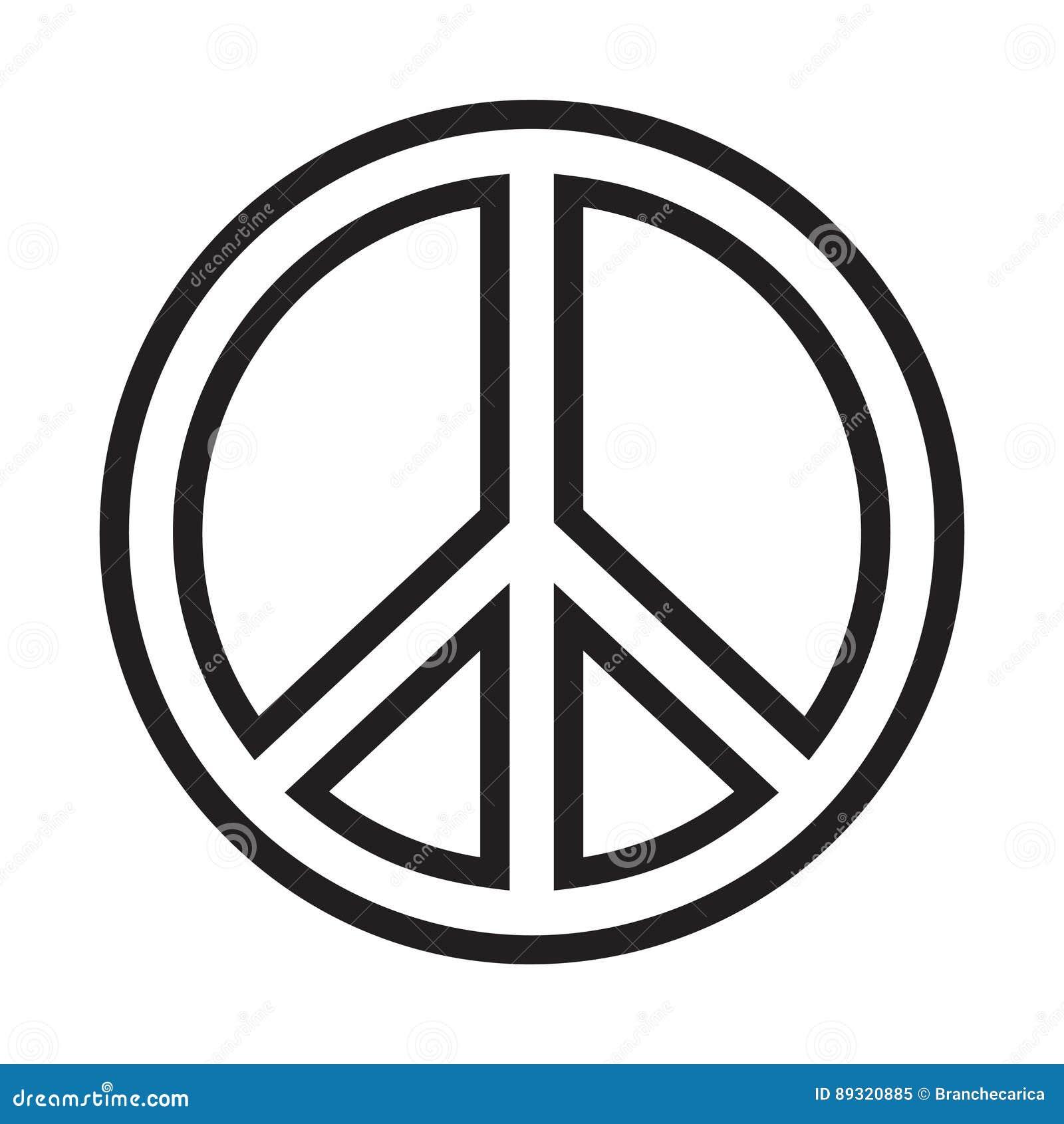 vredesteken vector illustratie illustratie bestaande uit