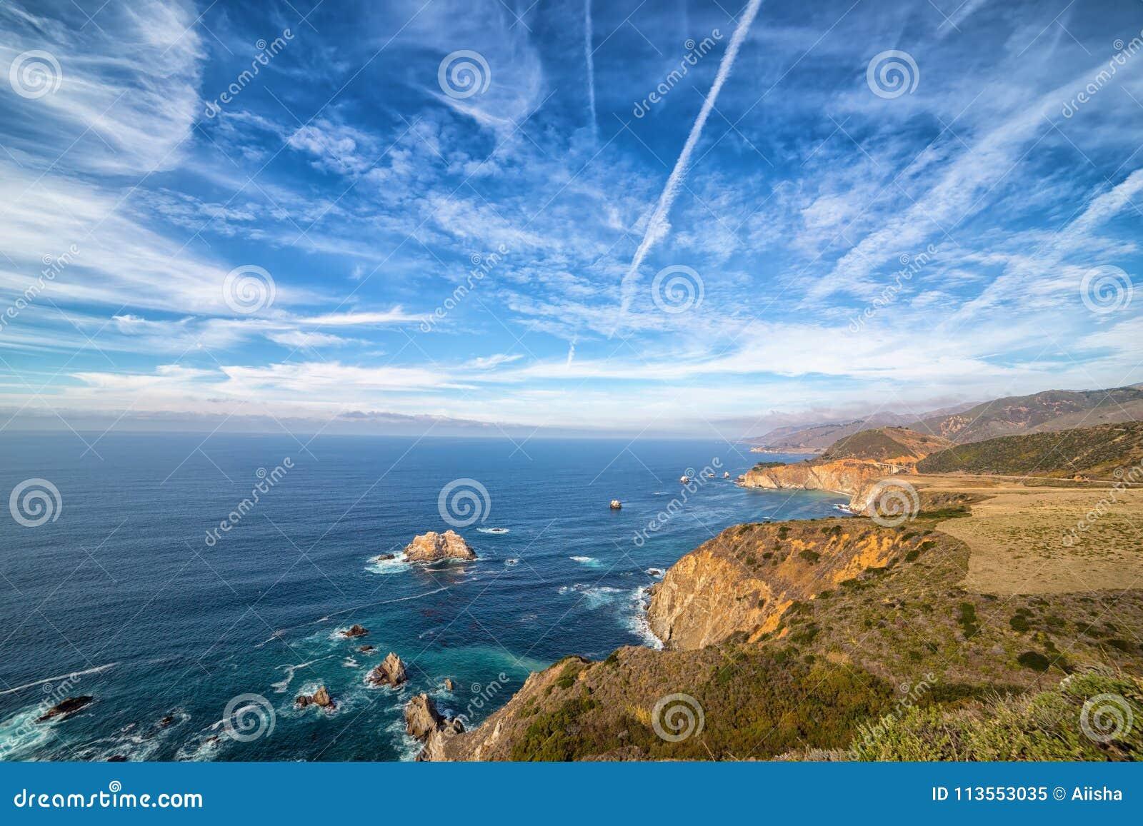 Vreedzame kustlijn langs weg 1, Californië