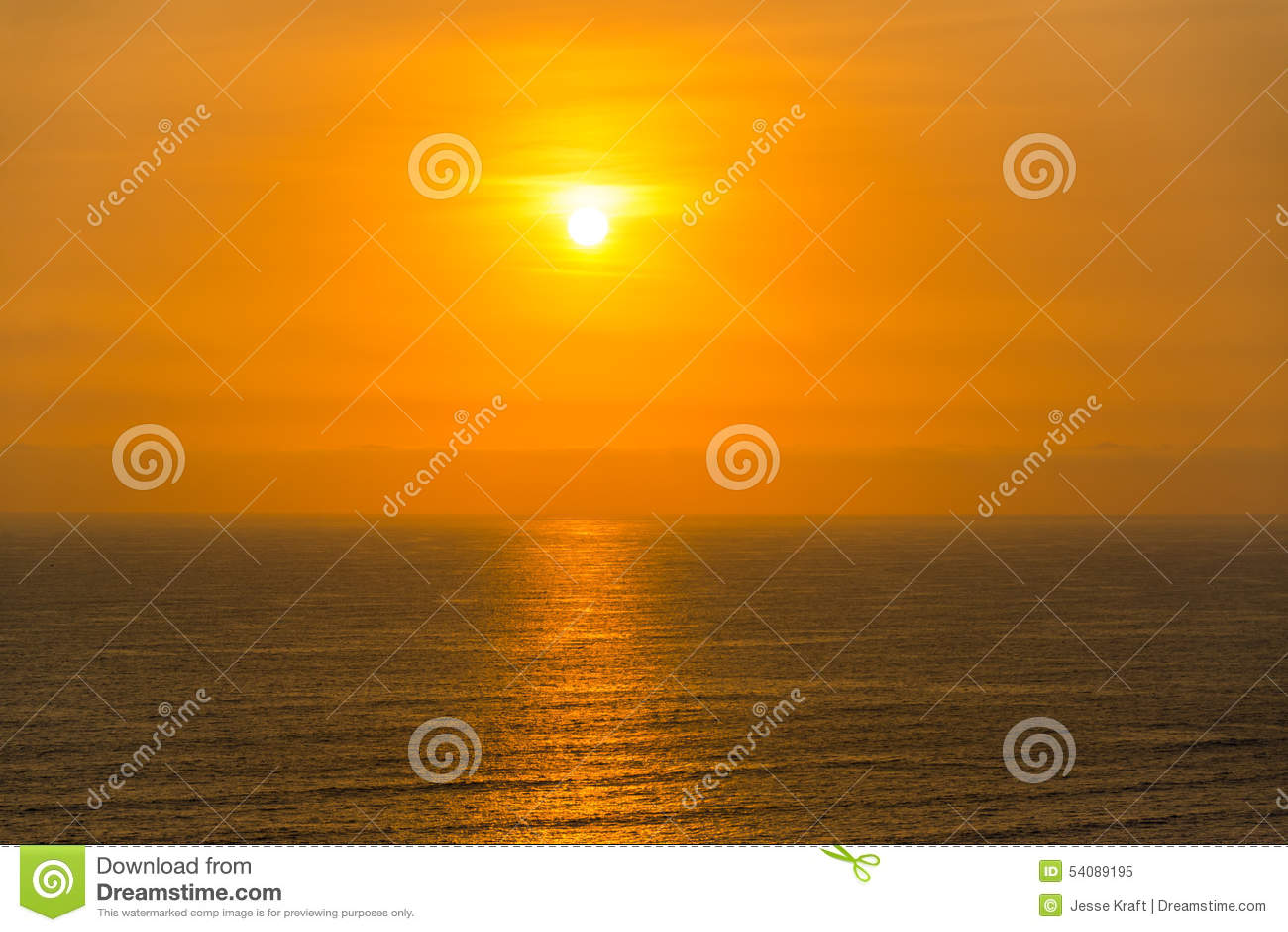 Vreedzame OceaanZonsondergang