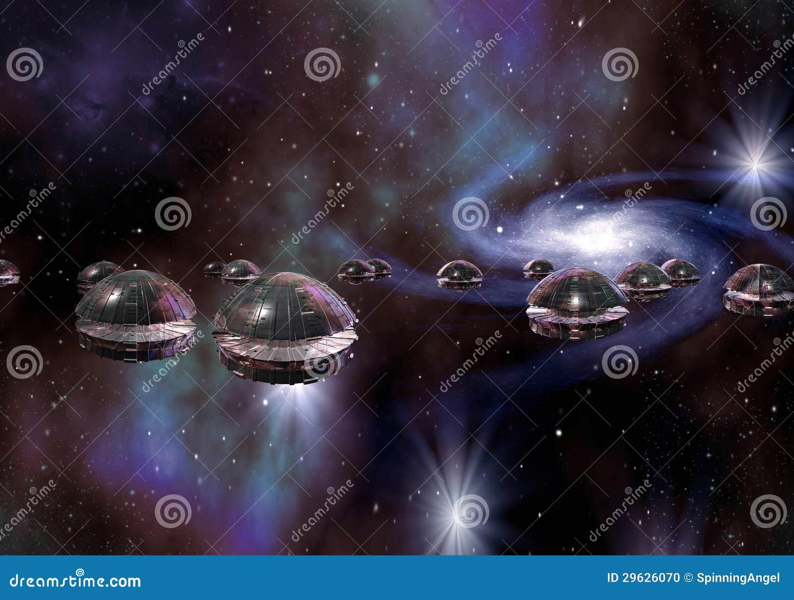 Vreemde Invasie door UFO