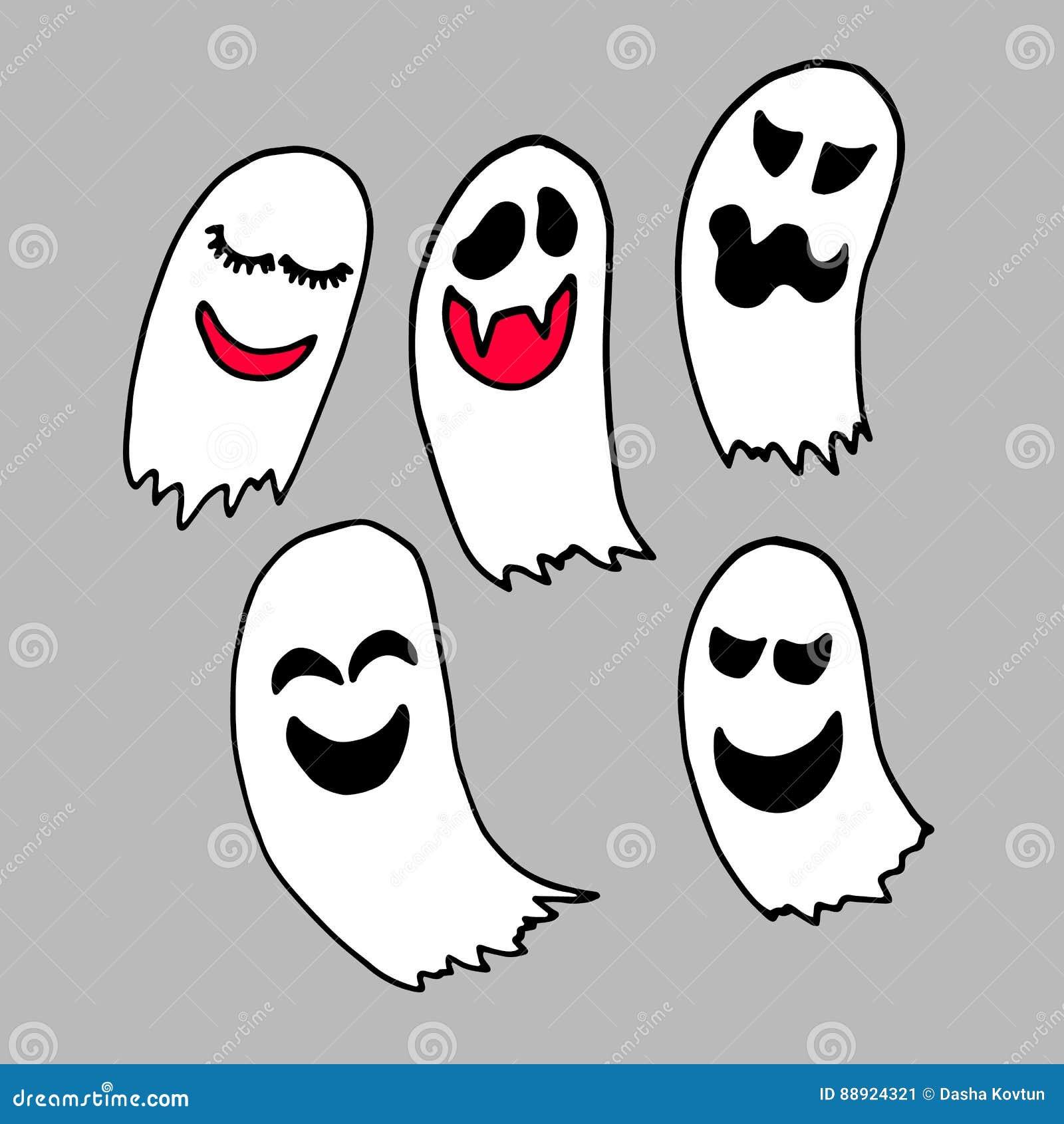 Vrees van het de illustratiebeeldverhaal van spook de vectorhalloween griezelige