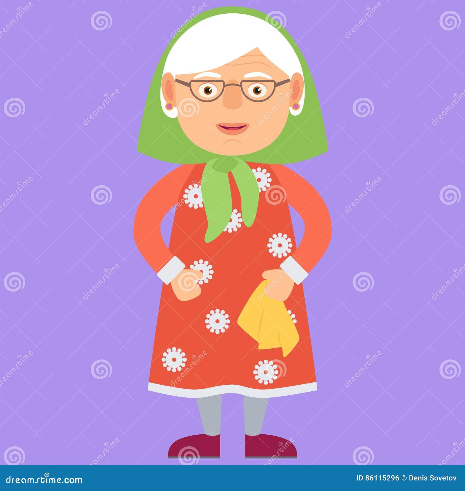 Vriendelijke grootmoeder