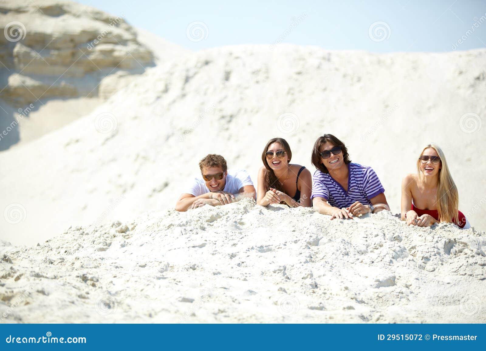 Vrienden op zand