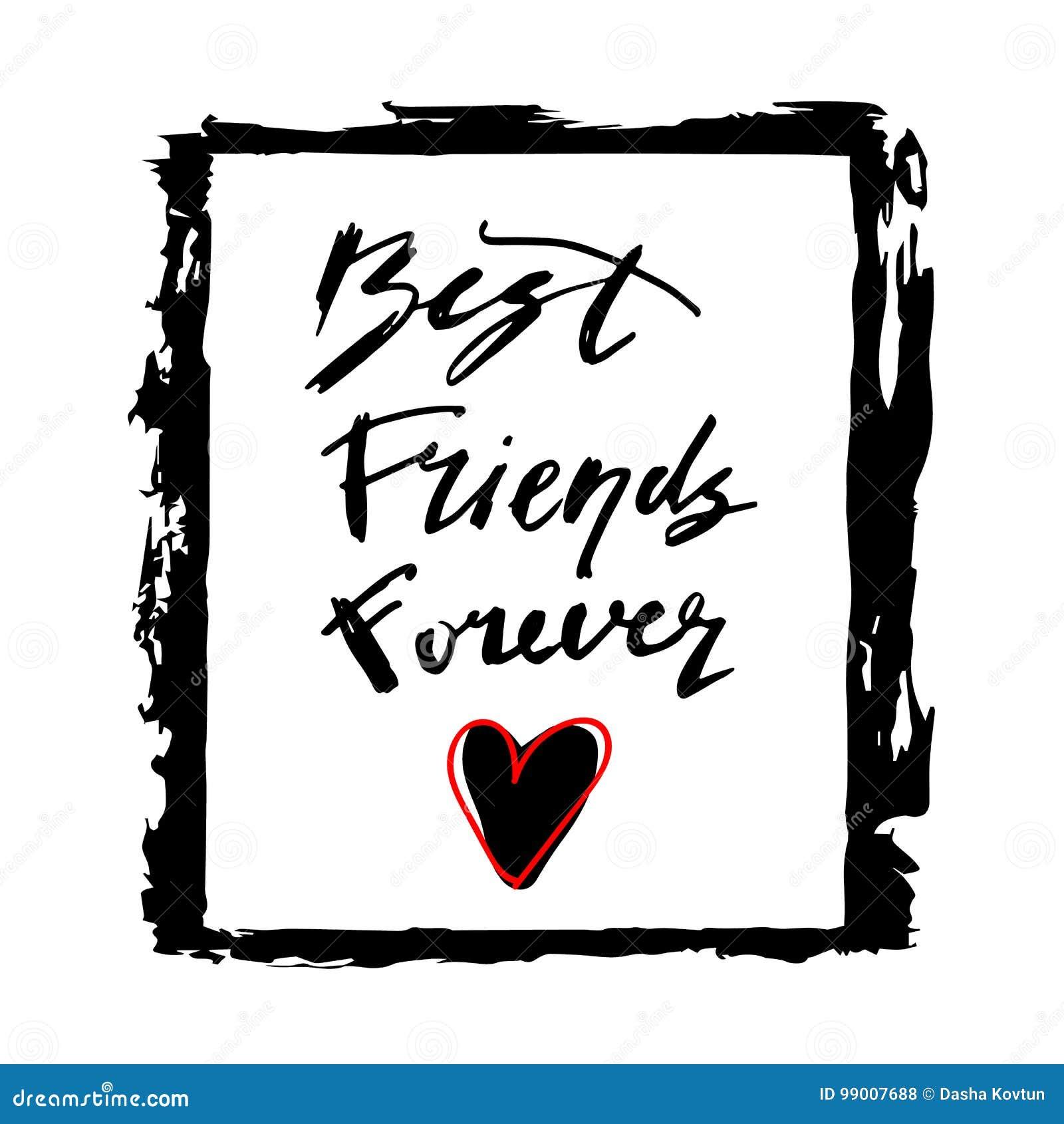 Vrienden Voor Altijd Vriendschap Het Van Letters Voorzien