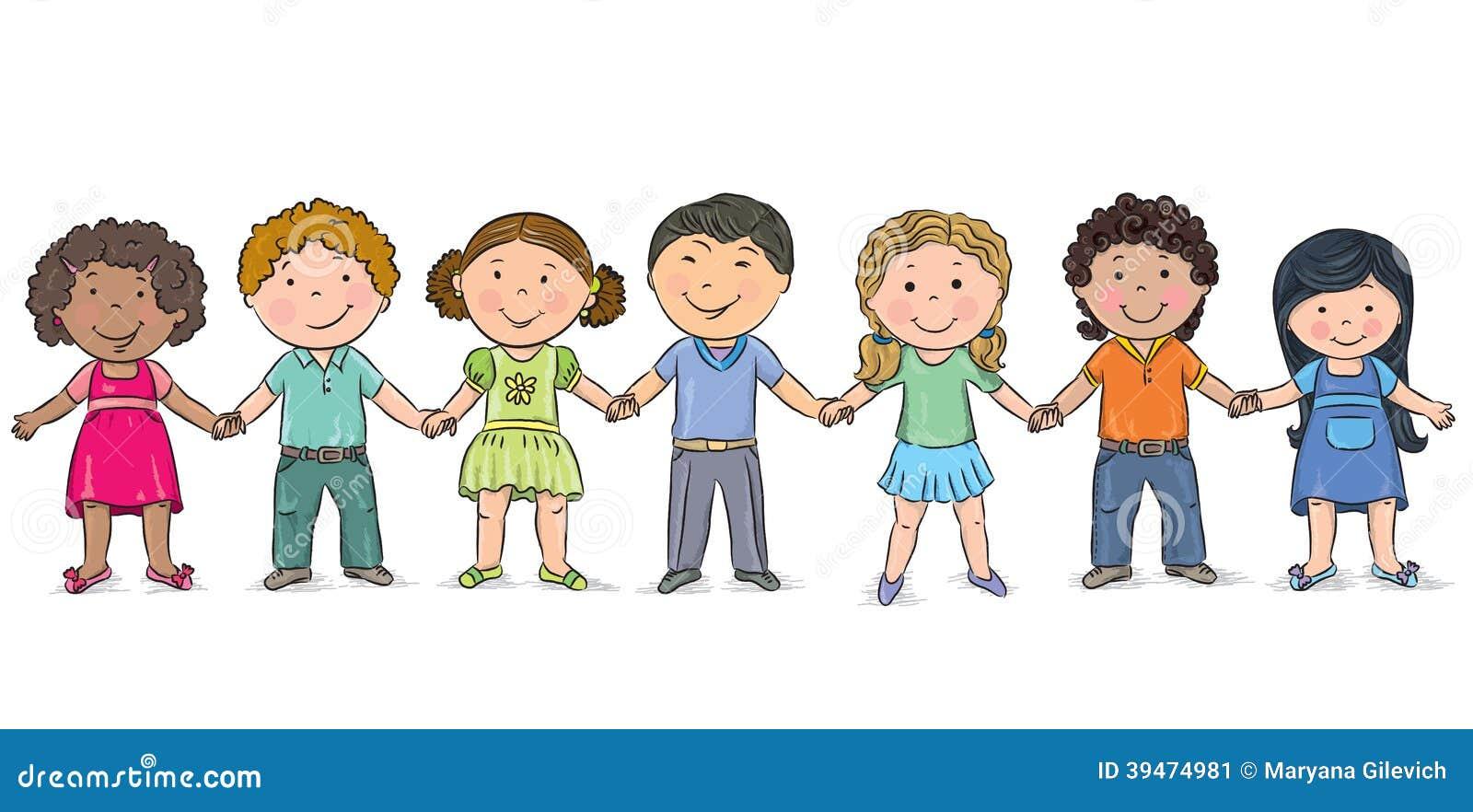 Vriendschap Vector Illustratie Illustratie Bestaande Uit