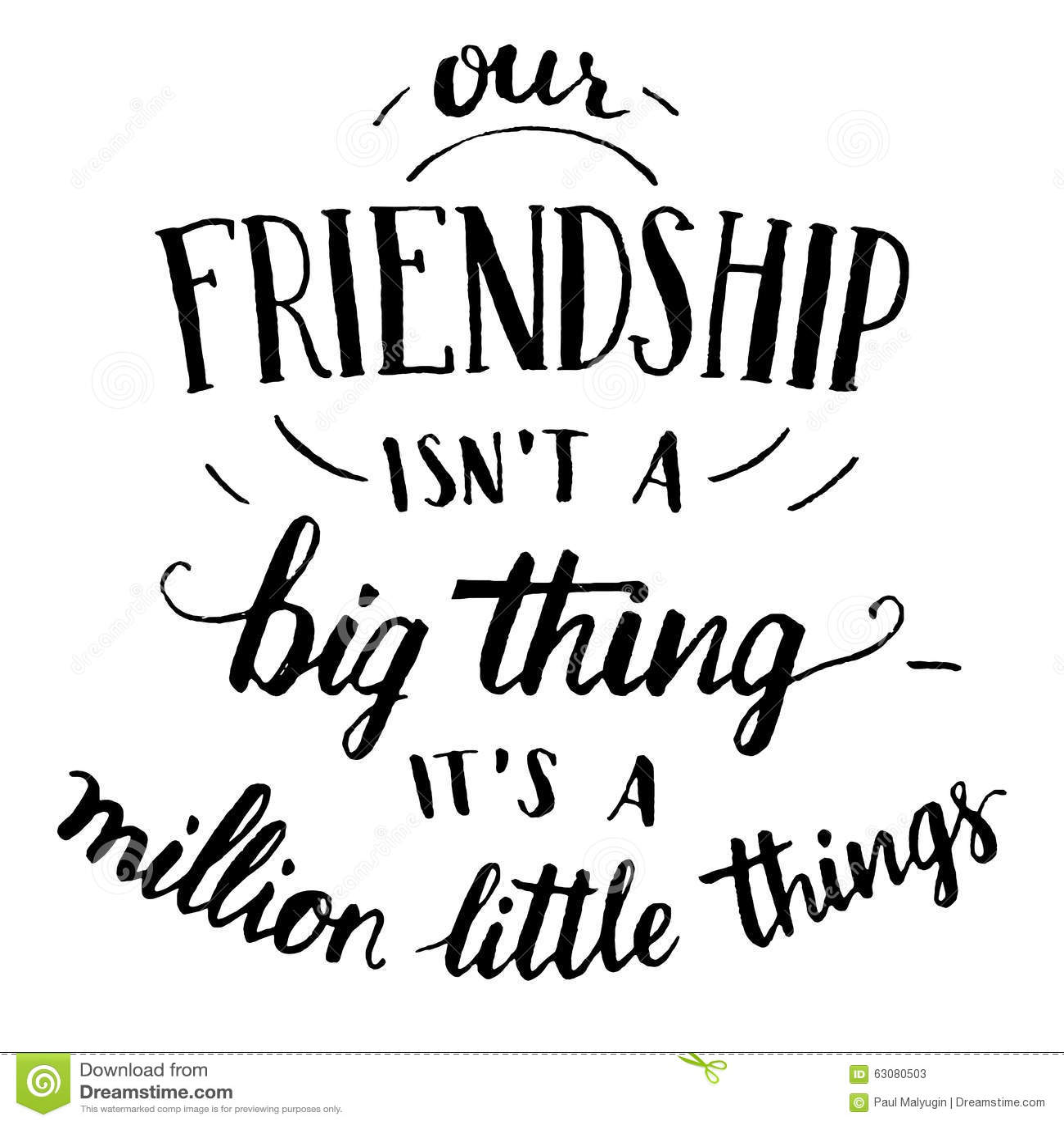 Vriendschaps hand-van letters voorziend en kalligrafie citaat