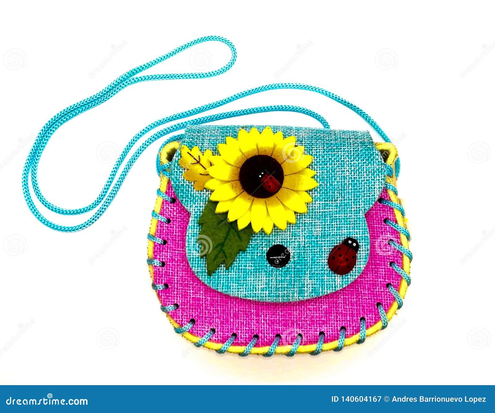 Vrij met de hand gemaakte zeer kleurrijke zak