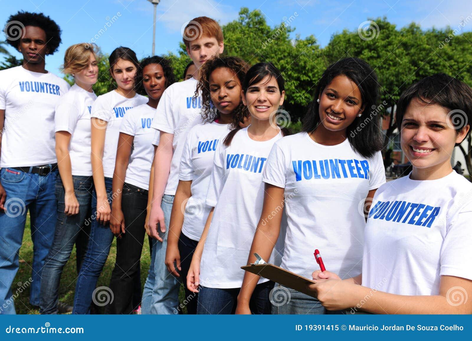 Vrijwilligers groepsregister voor gebeurtenis