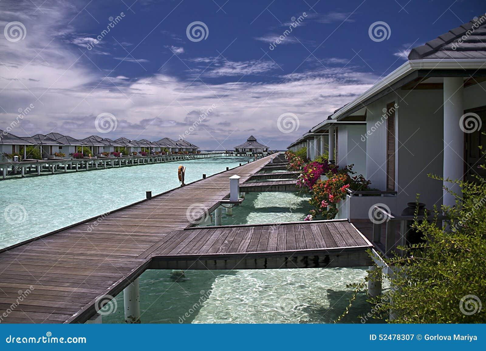 Vroege zonneochtend op de Maldiven