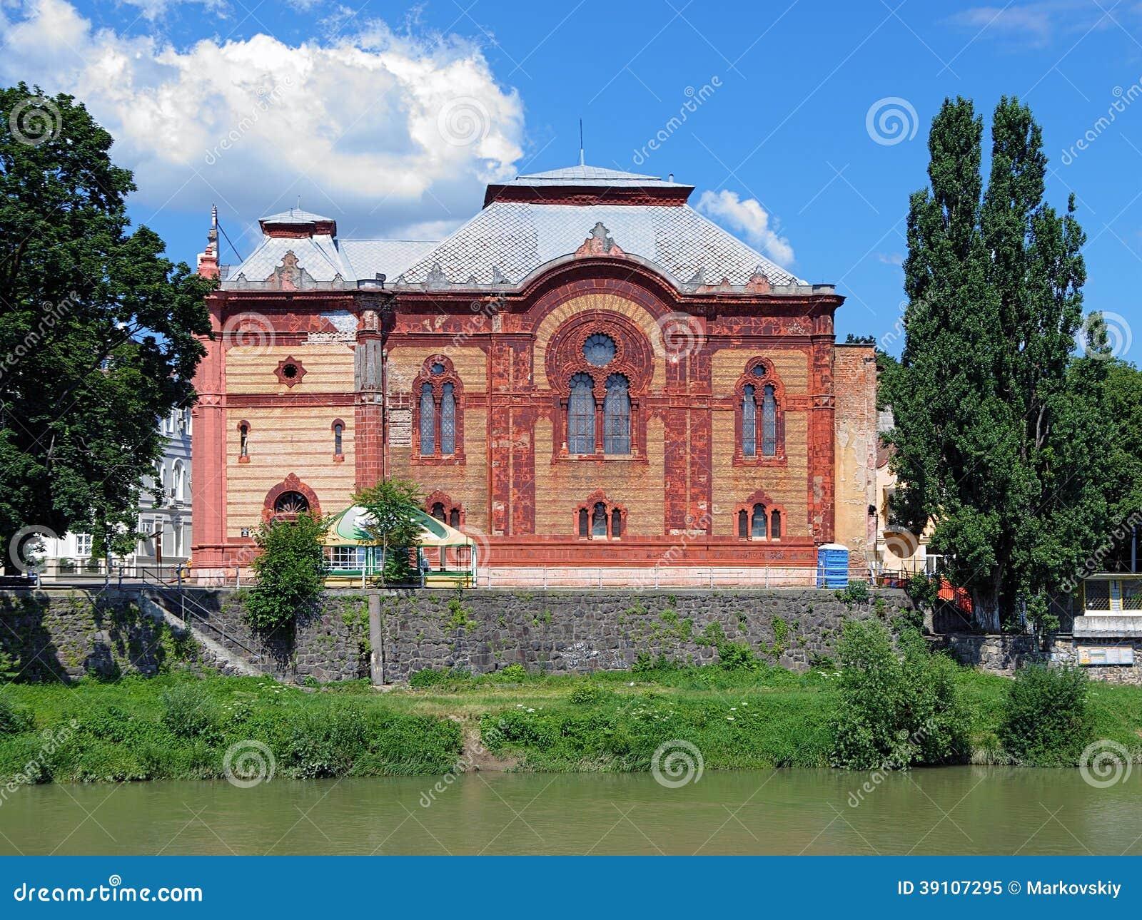 Vroegere Uzhgorod-Synagoge, Transcarpathië, de Oekraïne